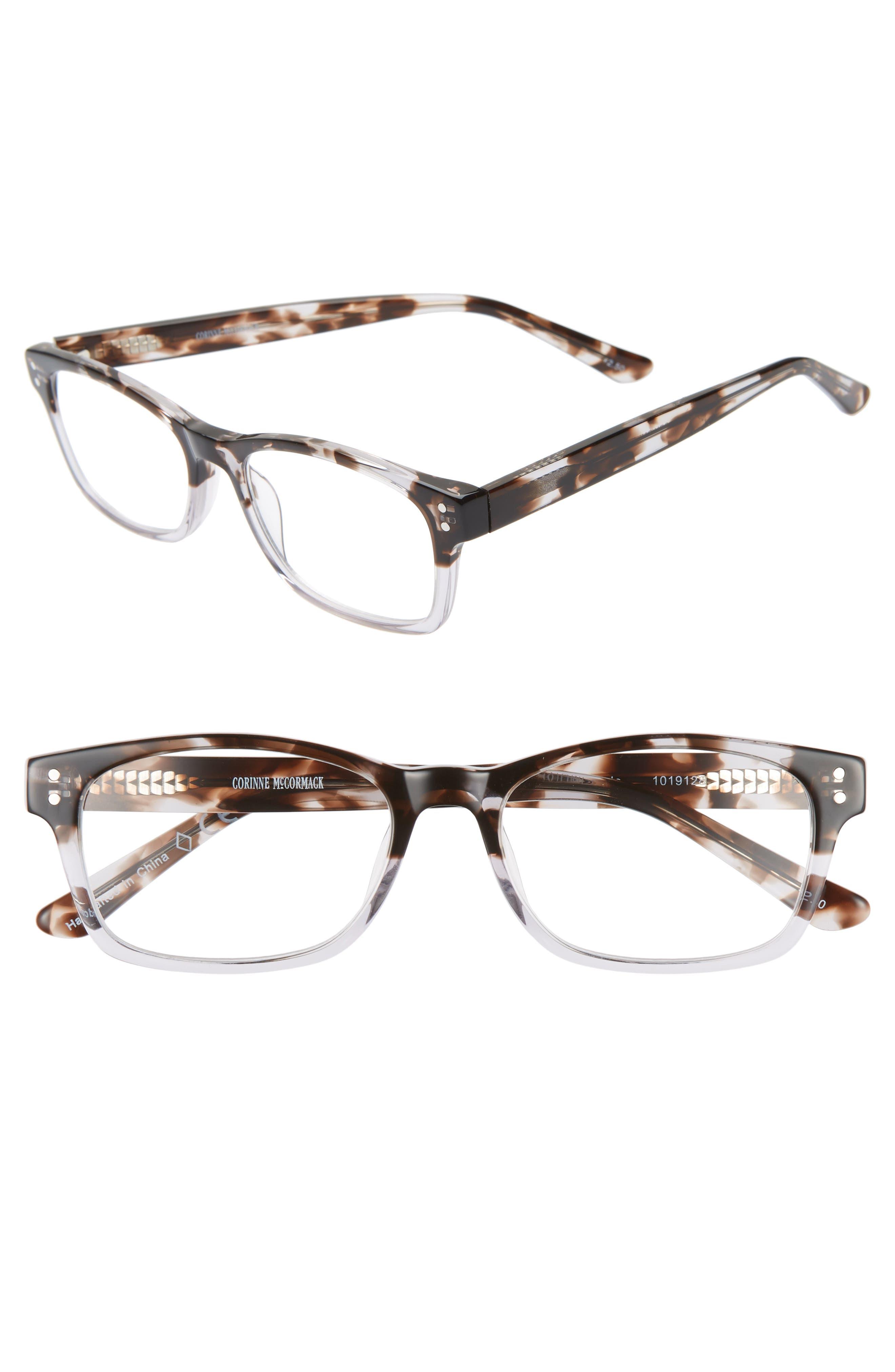 Edie 52mm Reading Glasses,                         Main,                         color, GREY DEMI FADE