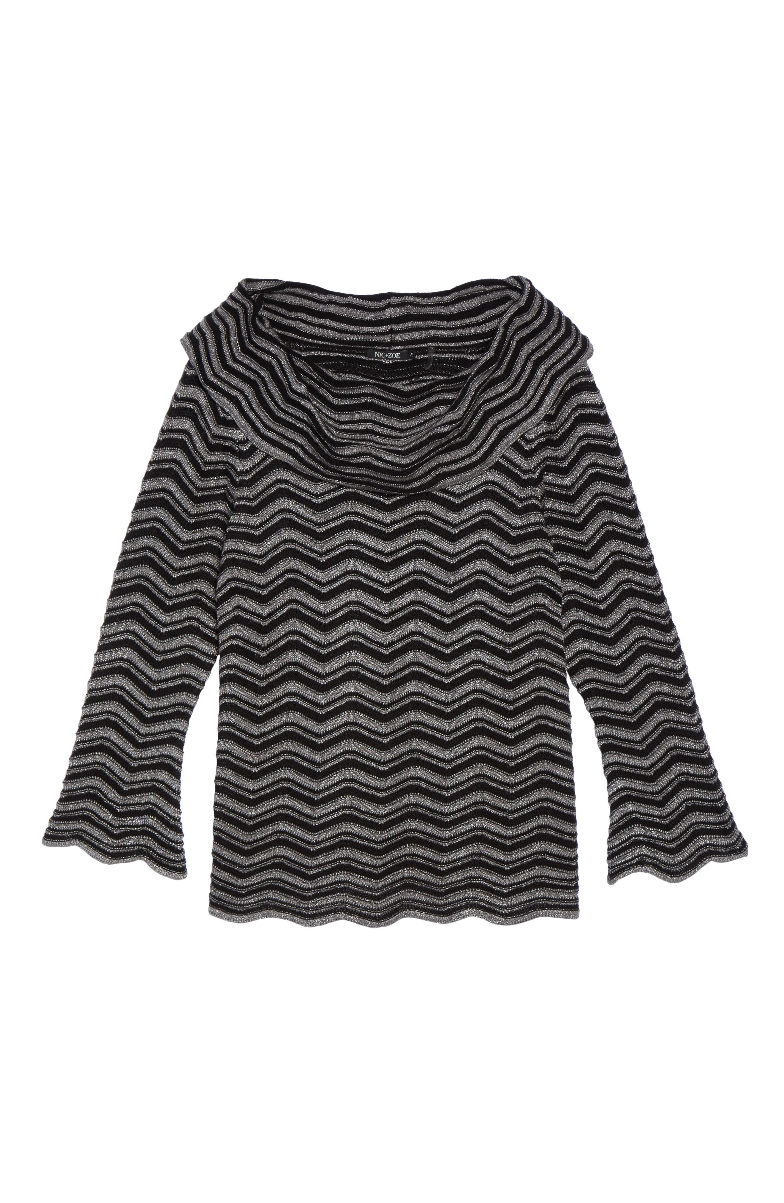 Zigzag Stripe Sweater,                             Alternate thumbnail 6, color,                             004