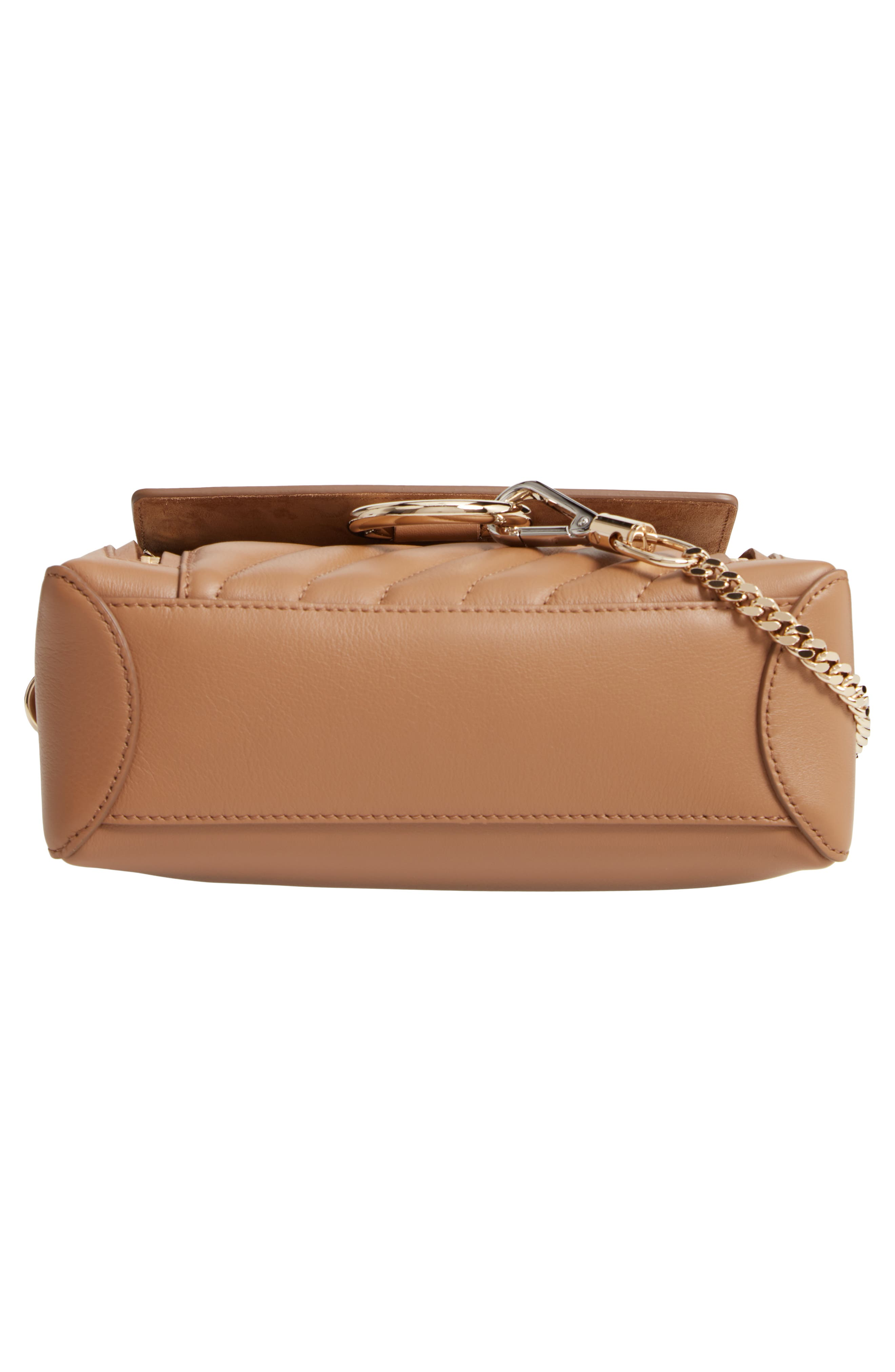 Mini Faye Day Leather Satchel,                             Alternate thumbnail 6, color,                             NUT
