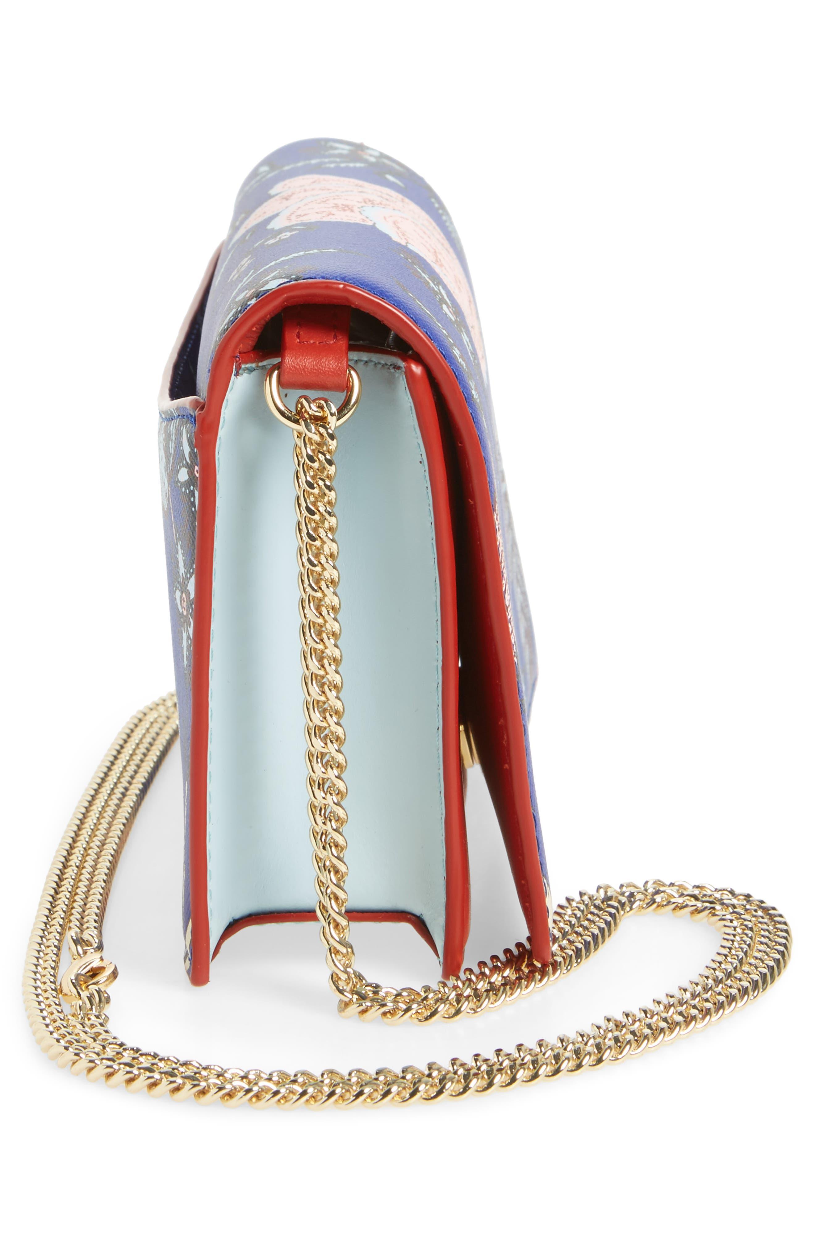 Soirée Leather Convertible Crossbody Bag,                             Alternate thumbnail 17, color,
