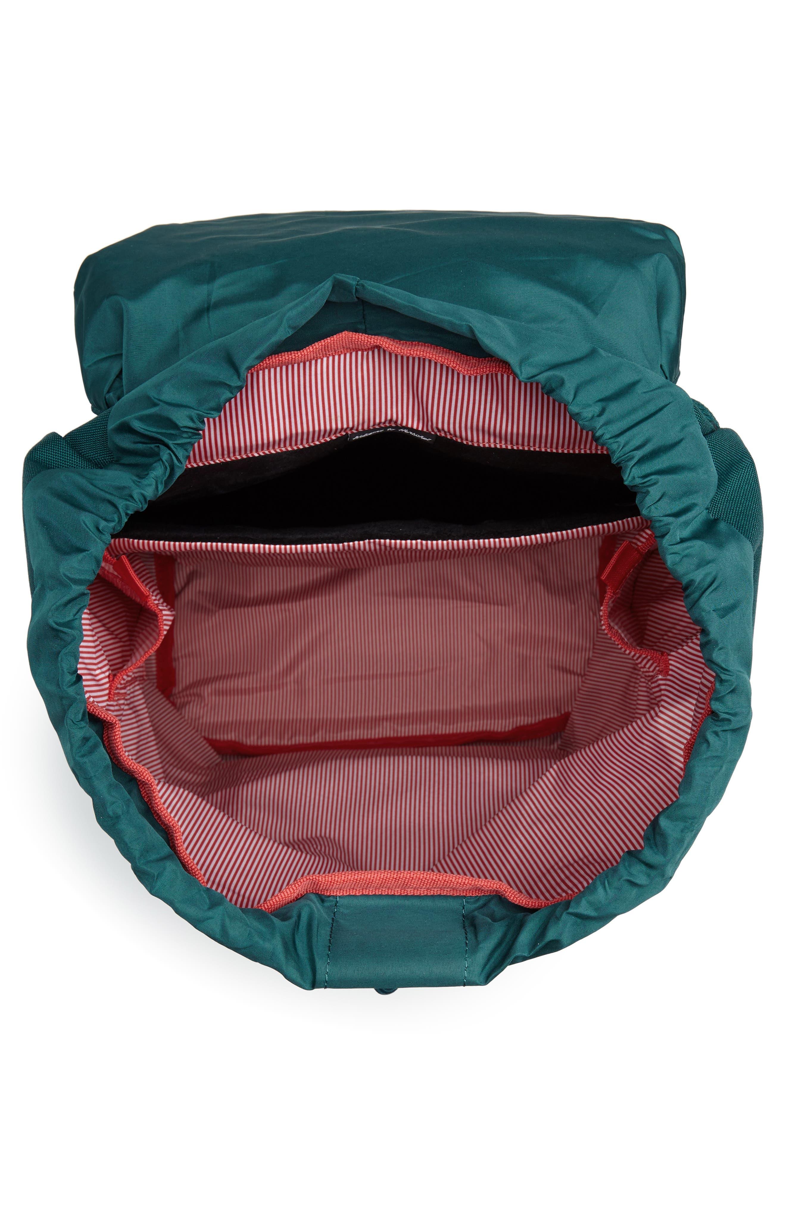 Little America Backpack,                             Alternate thumbnail 4, color,                             DEEP TEAL/ TAN