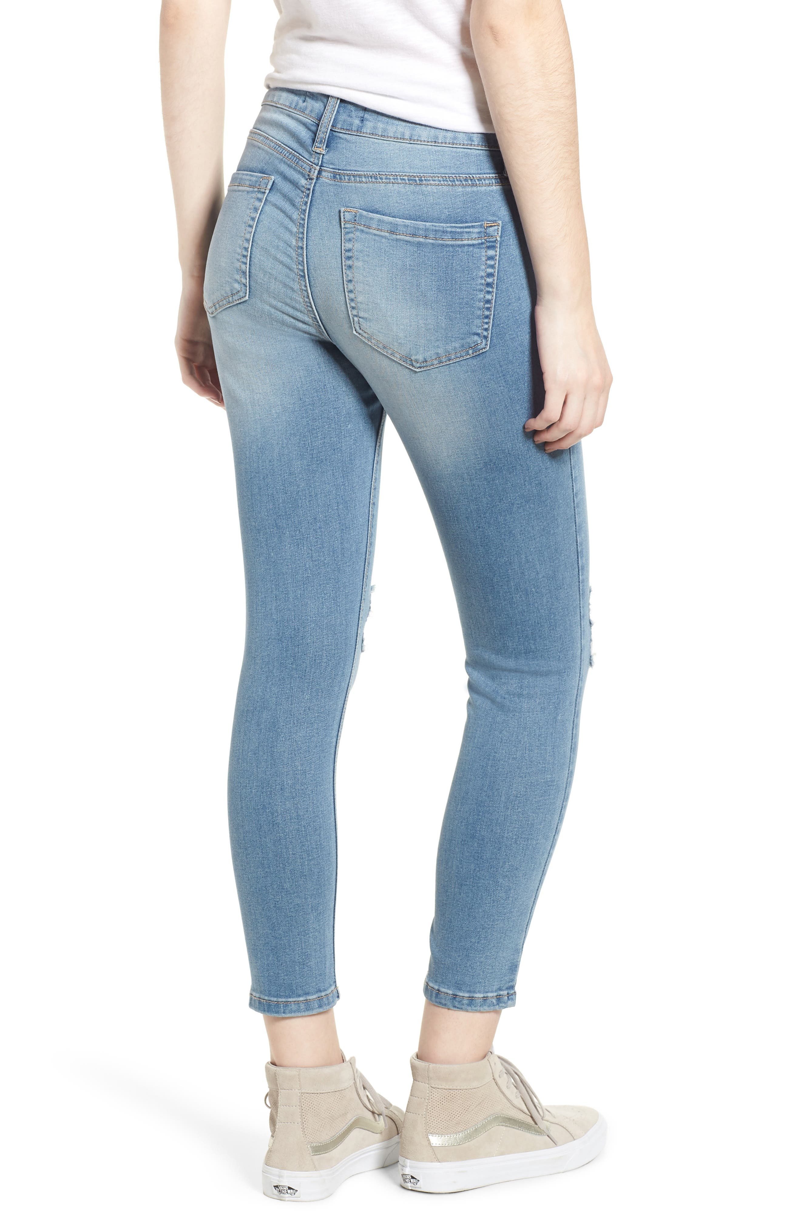 Ripped Crop Skinny Jeans,                             Alternate thumbnail 2, color,                             LUCAS
