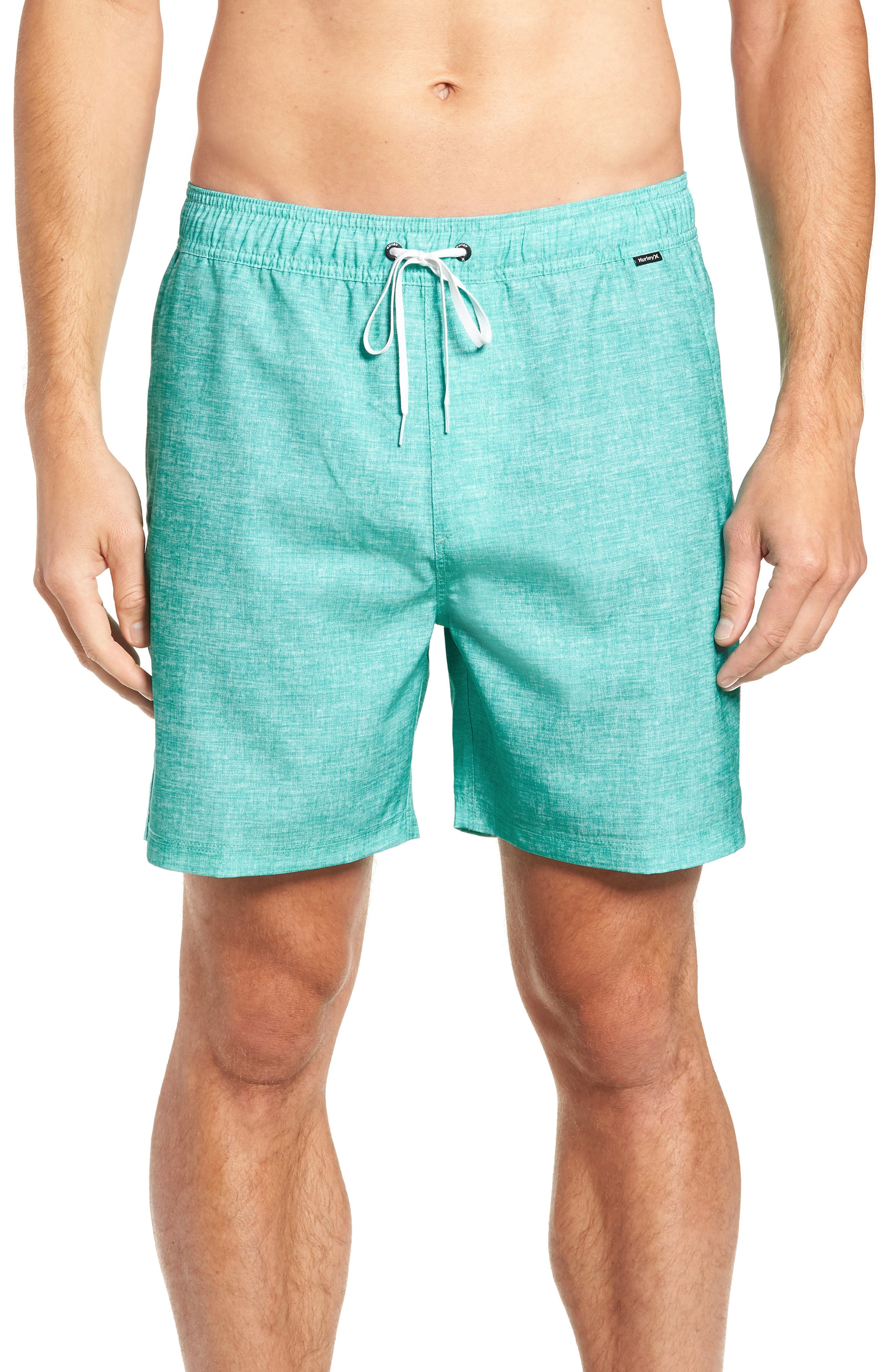 Hurley Heather Volley Swim Trunks, Green
