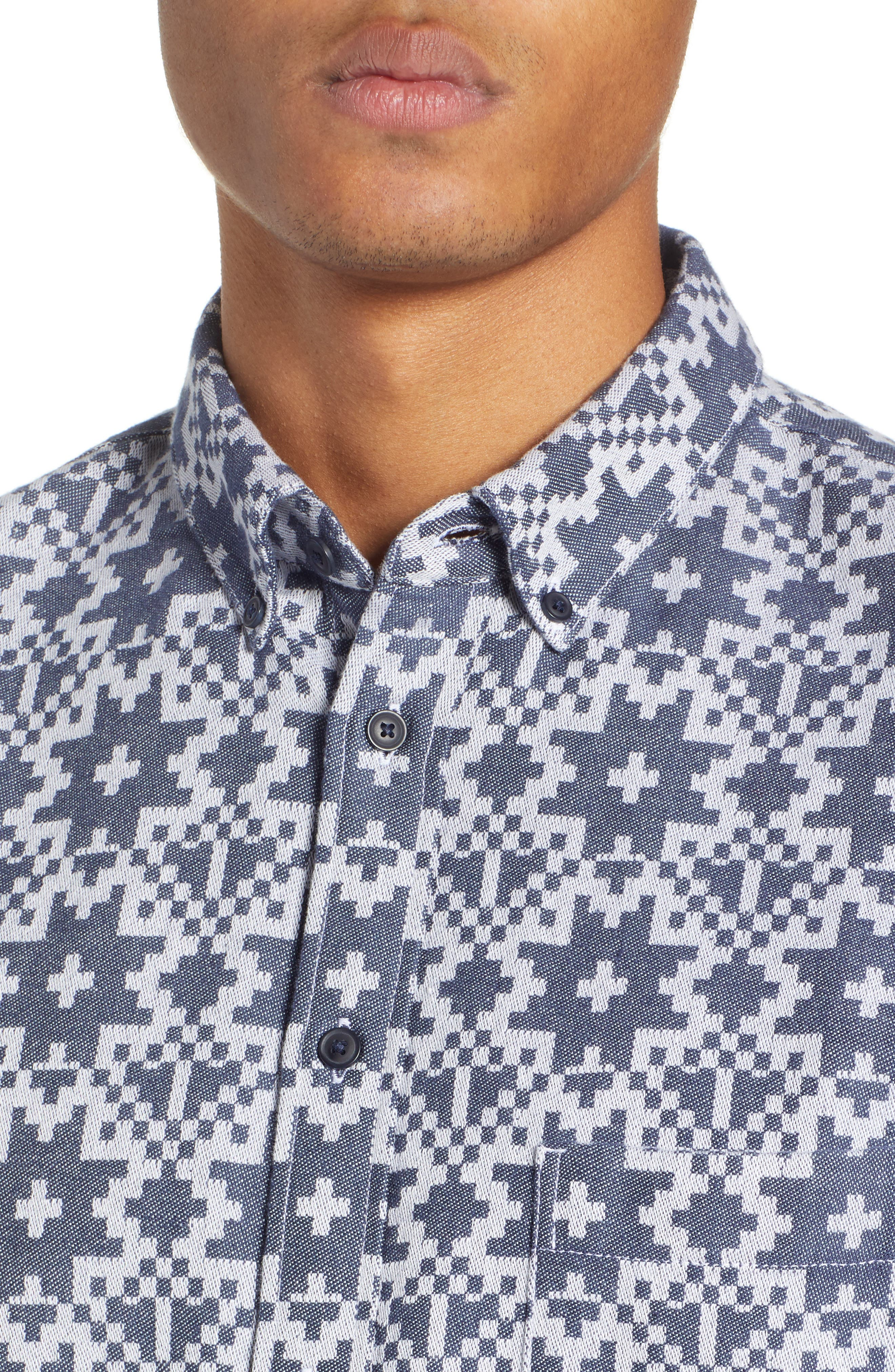 Standard Geo Jacquard Sport Shirt,                             Alternate thumbnail 2, color,                             GEO JACQUARD