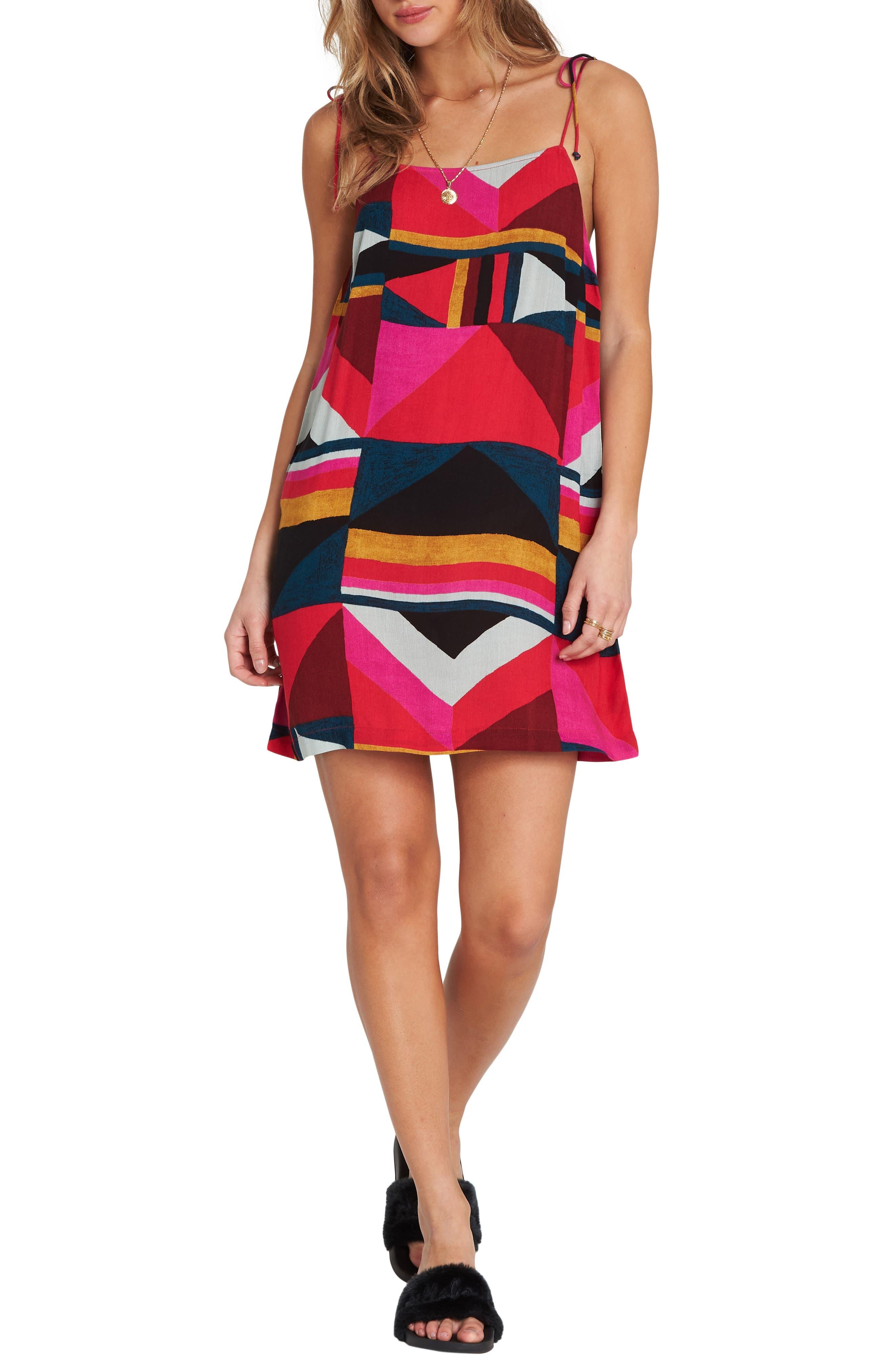 Billabong Night Out Print Camisole Dress