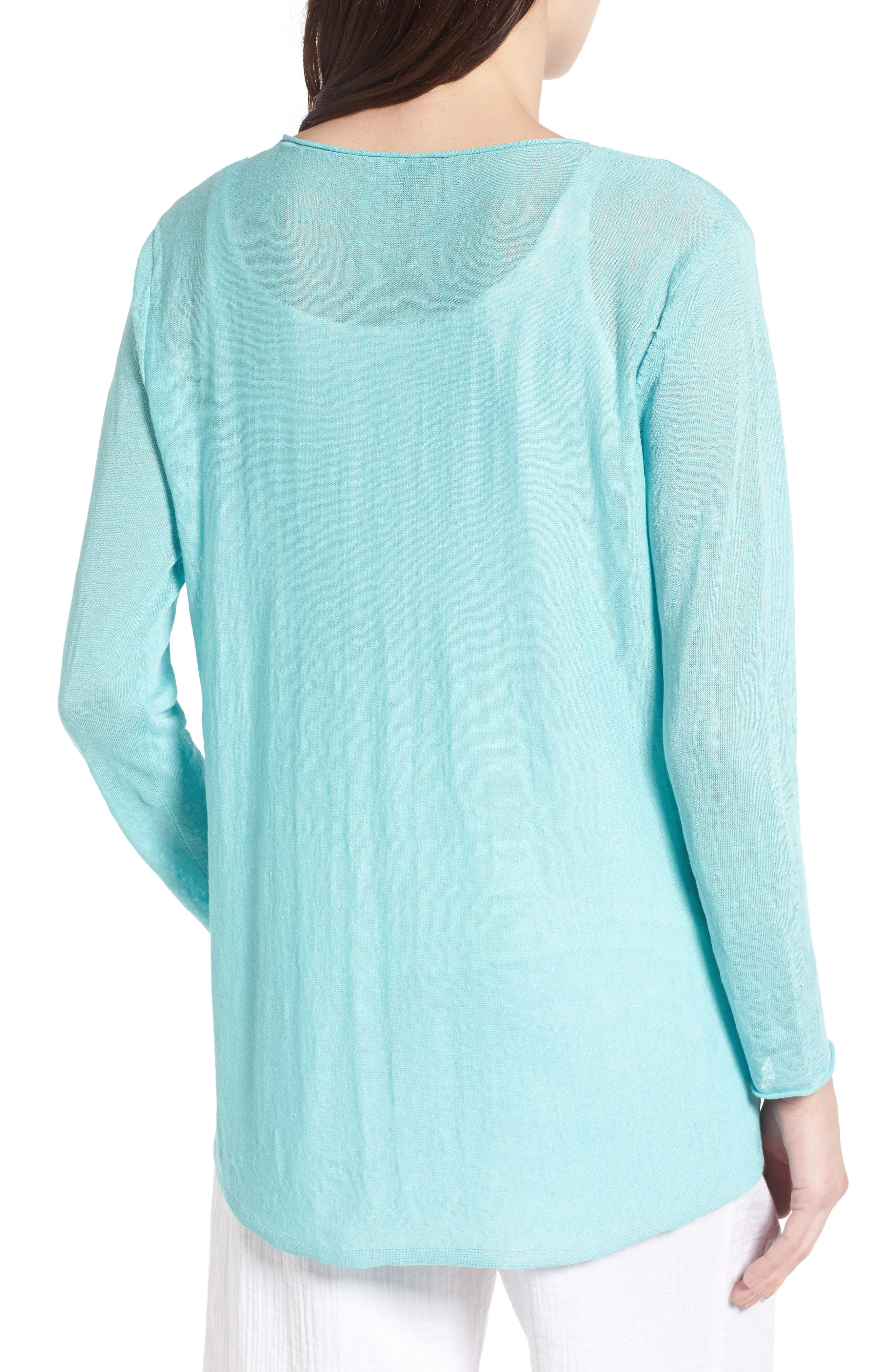 Organic Linen Blend Swing Sweater,                             Alternate thumbnail 17, color,