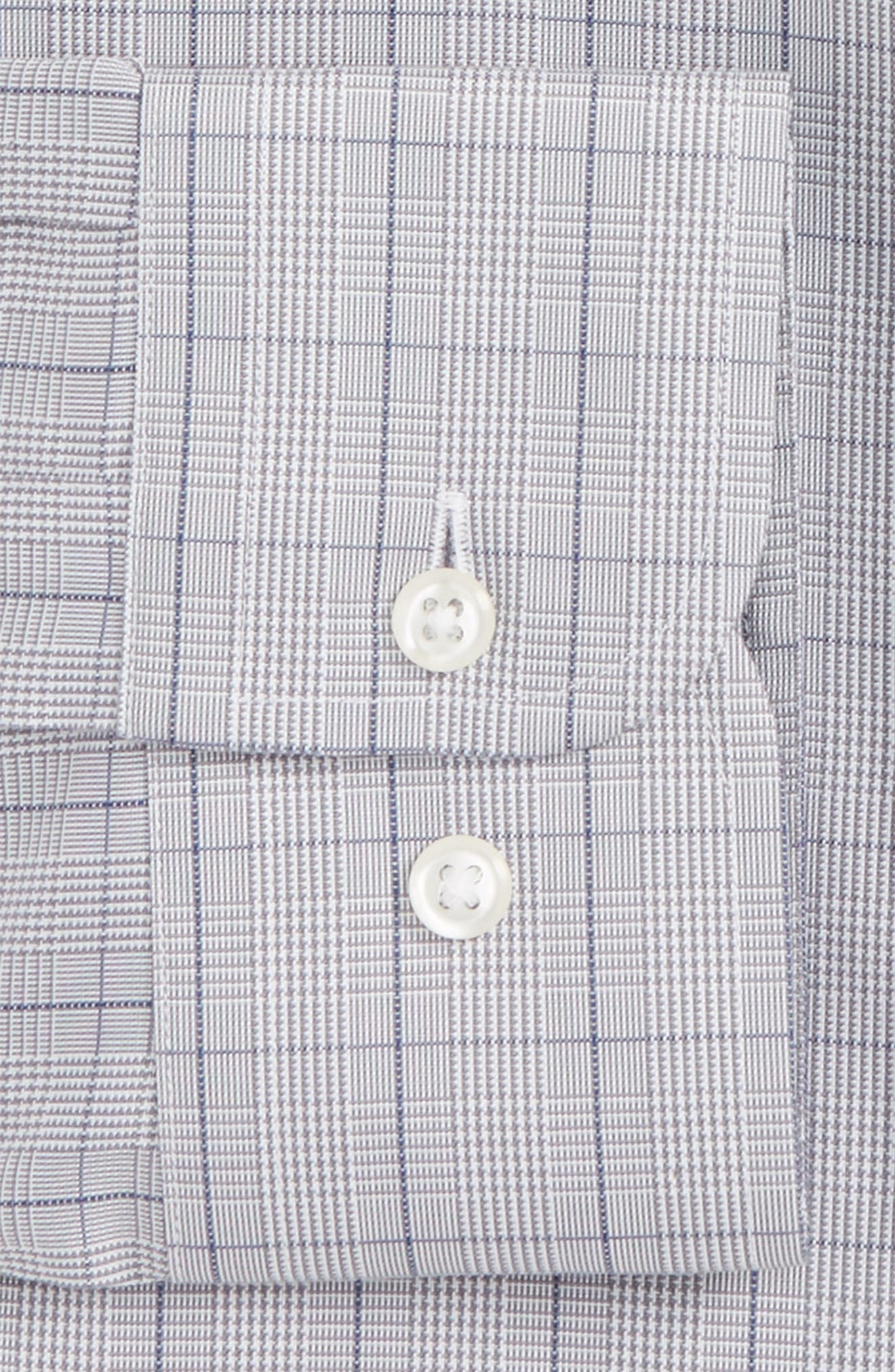 Smartcare<sup>™</sup> Traditional Fit Windowpane Dress Shirt,                             Alternate thumbnail 4, color,