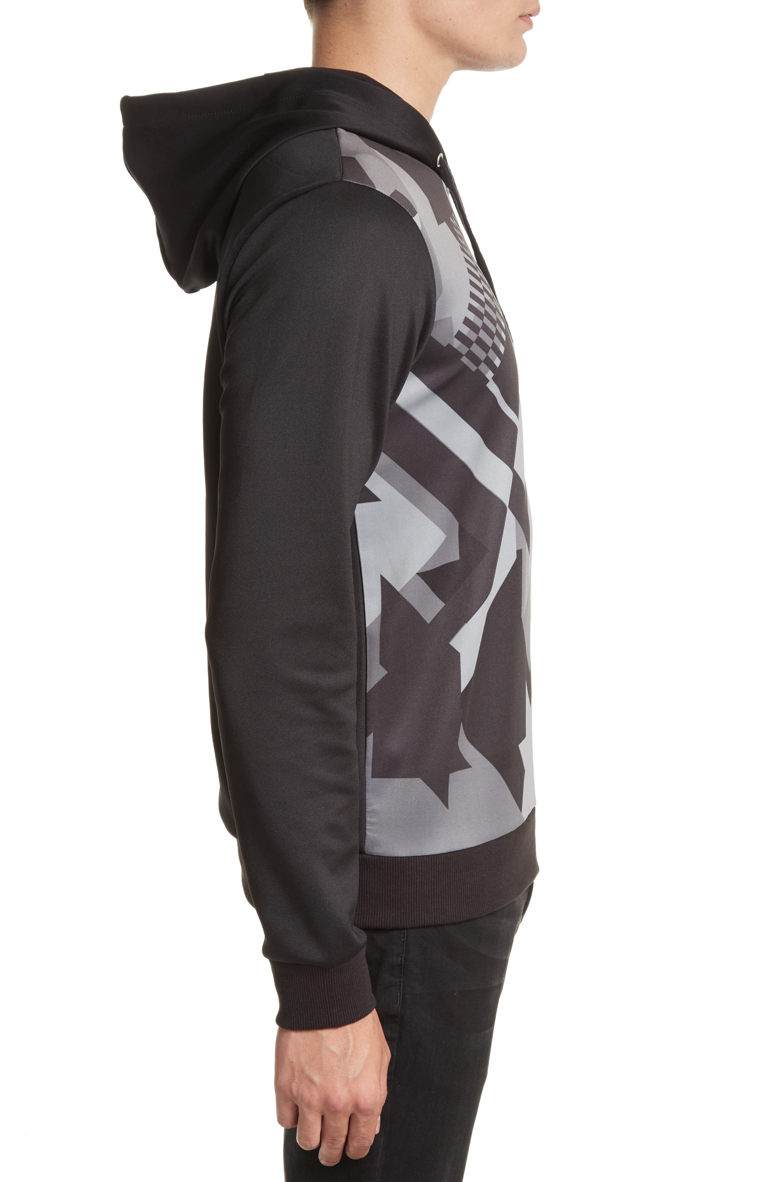Print Front Hoodie,                             Alternate thumbnail 3, color,                             050