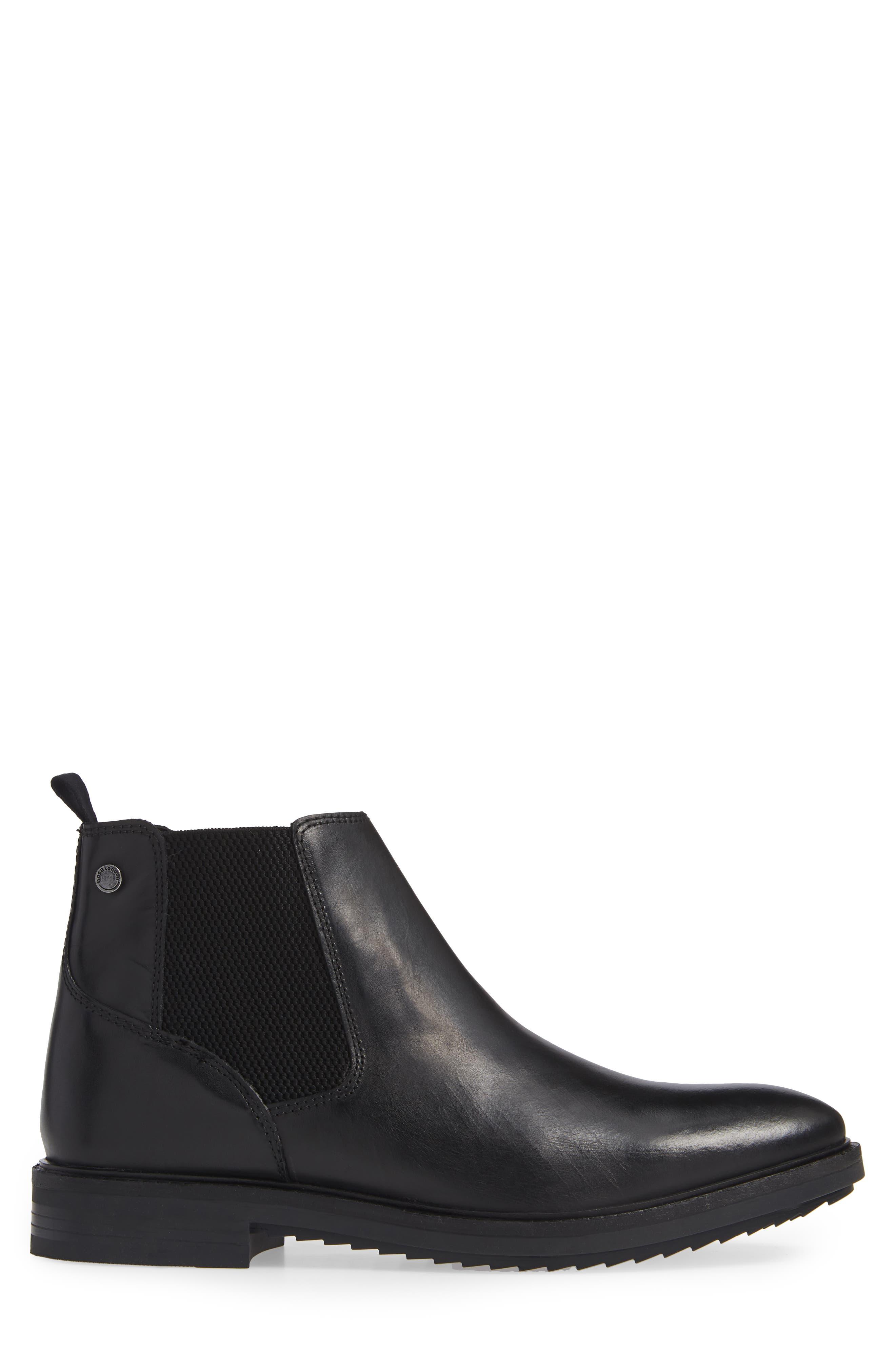 Kingsley Chelsea Boot,                             Alternate thumbnail 3, color,                             BLACK