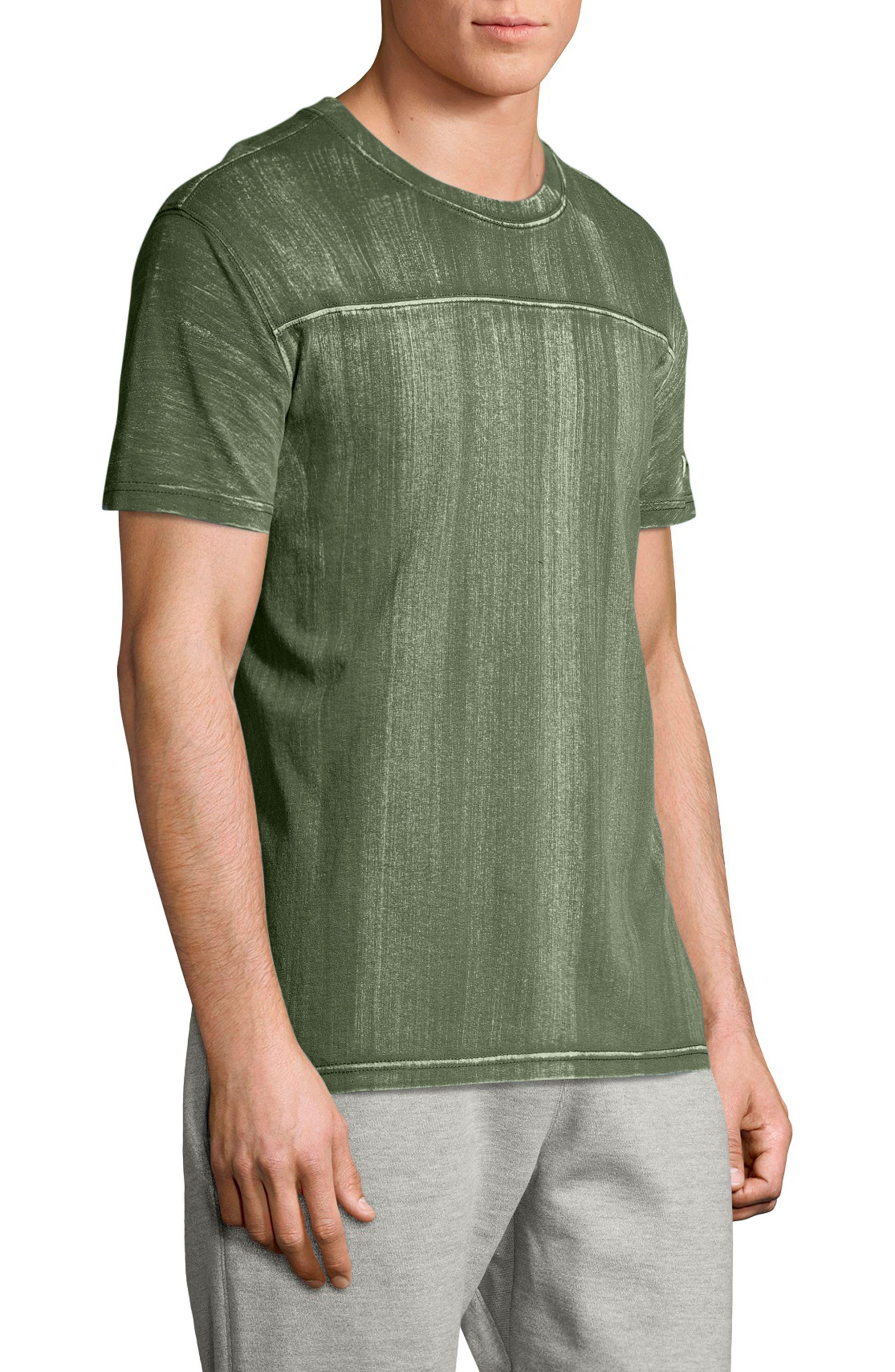 Bleached Wash Crewneck Cotton T-Shirt,                             Alternate thumbnail 3, color,                             307