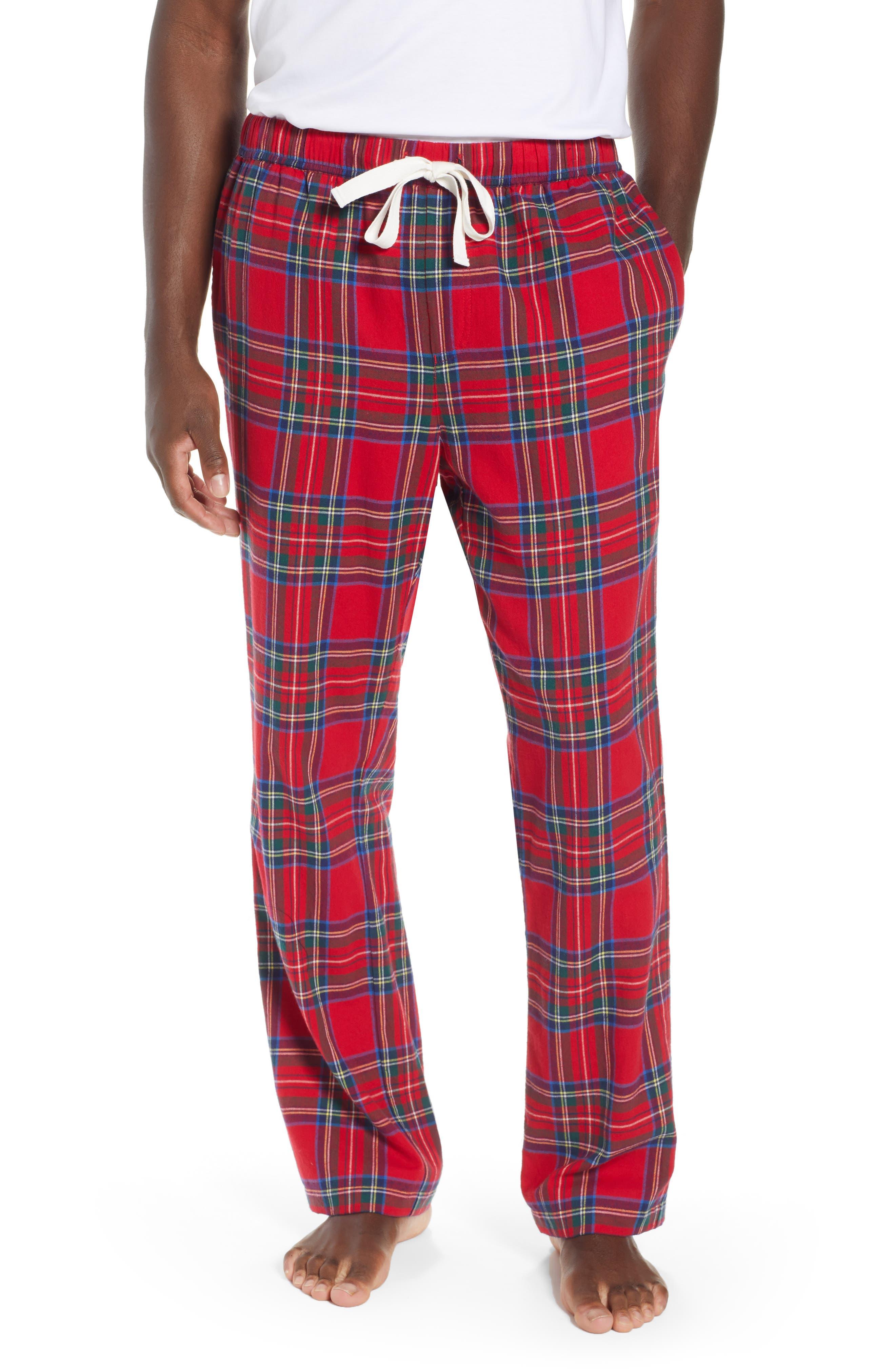 Jolly Plaid Cotton Flannel Pajama Pants,                             Main thumbnail 1, color,                             786