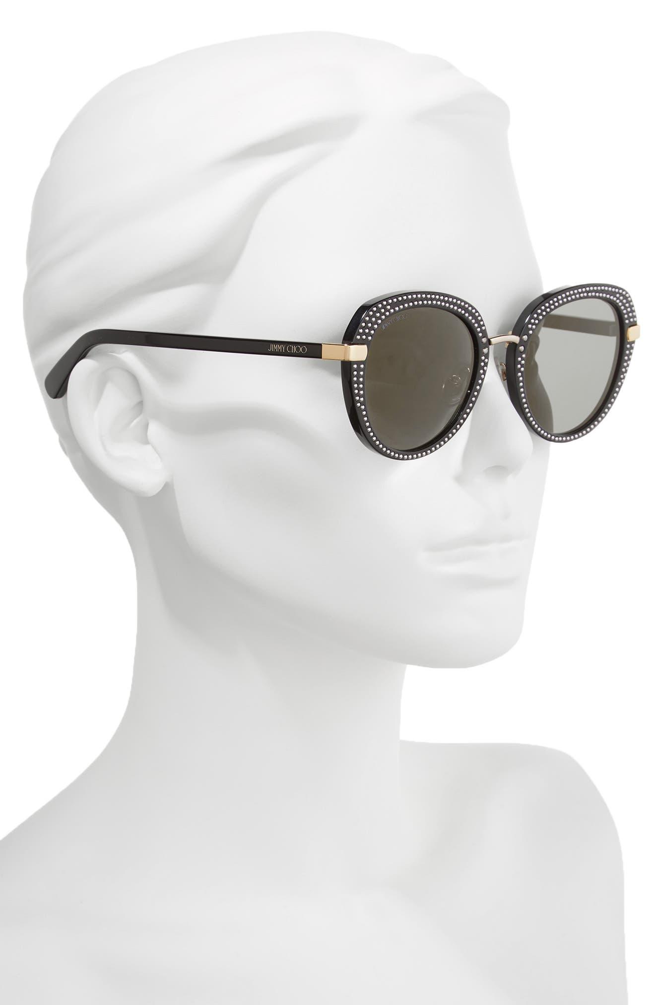 Moris 52mm Oversize Sunglasses,                             Alternate thumbnail 2, color,                             BLACK GOLD