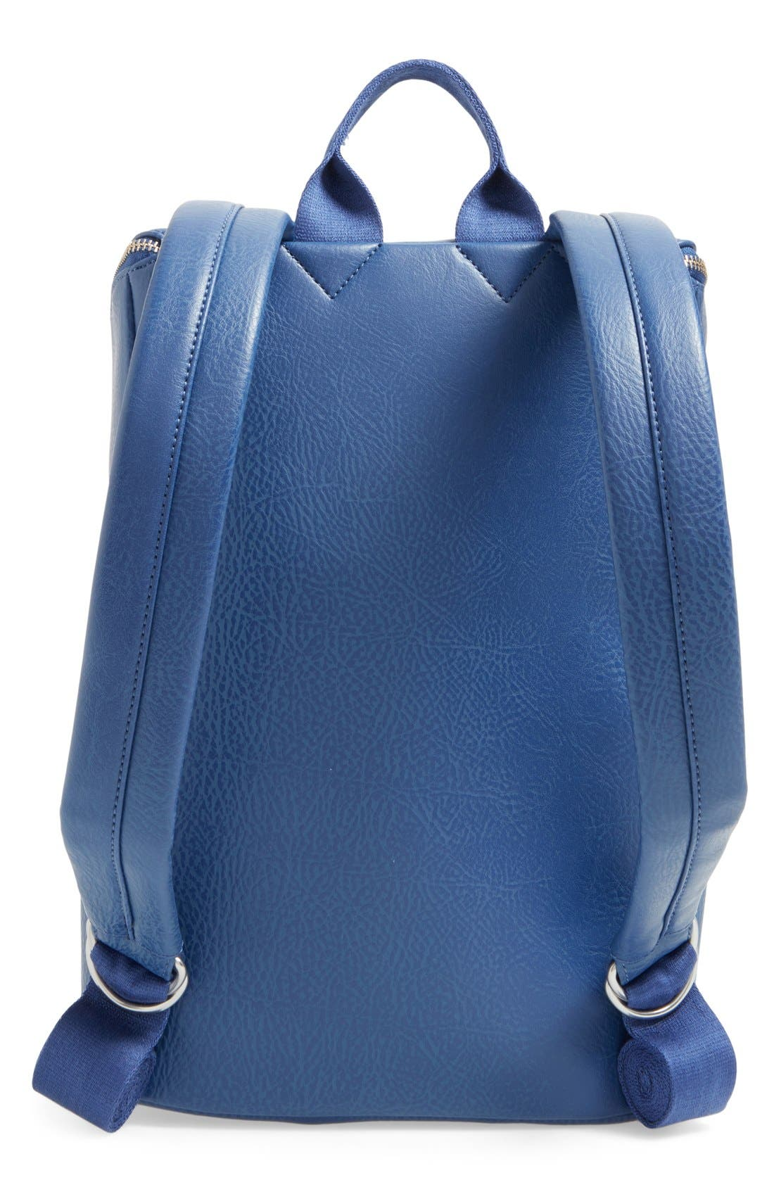 'Brave' Faux Leather Backpack,                             Alternate thumbnail 45, color,