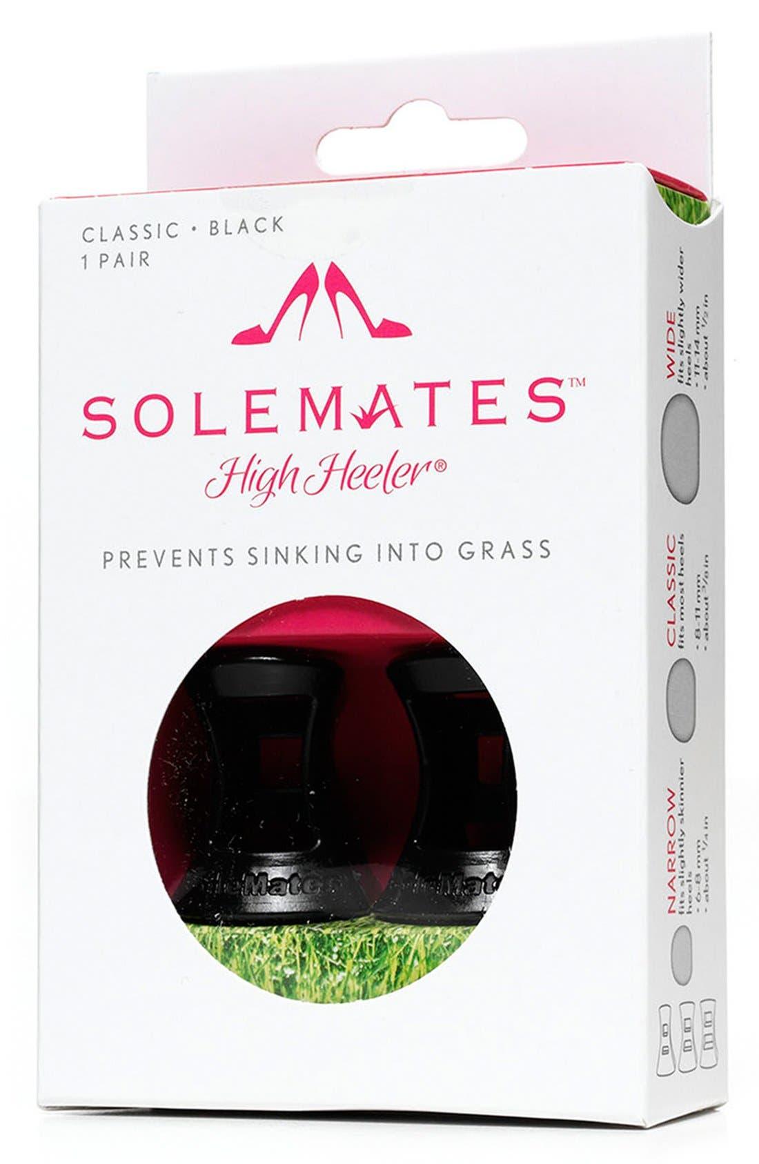 Solemates 'High Heeler' Heel Protectors,                             Alternate thumbnail 3, color,                             BLACK