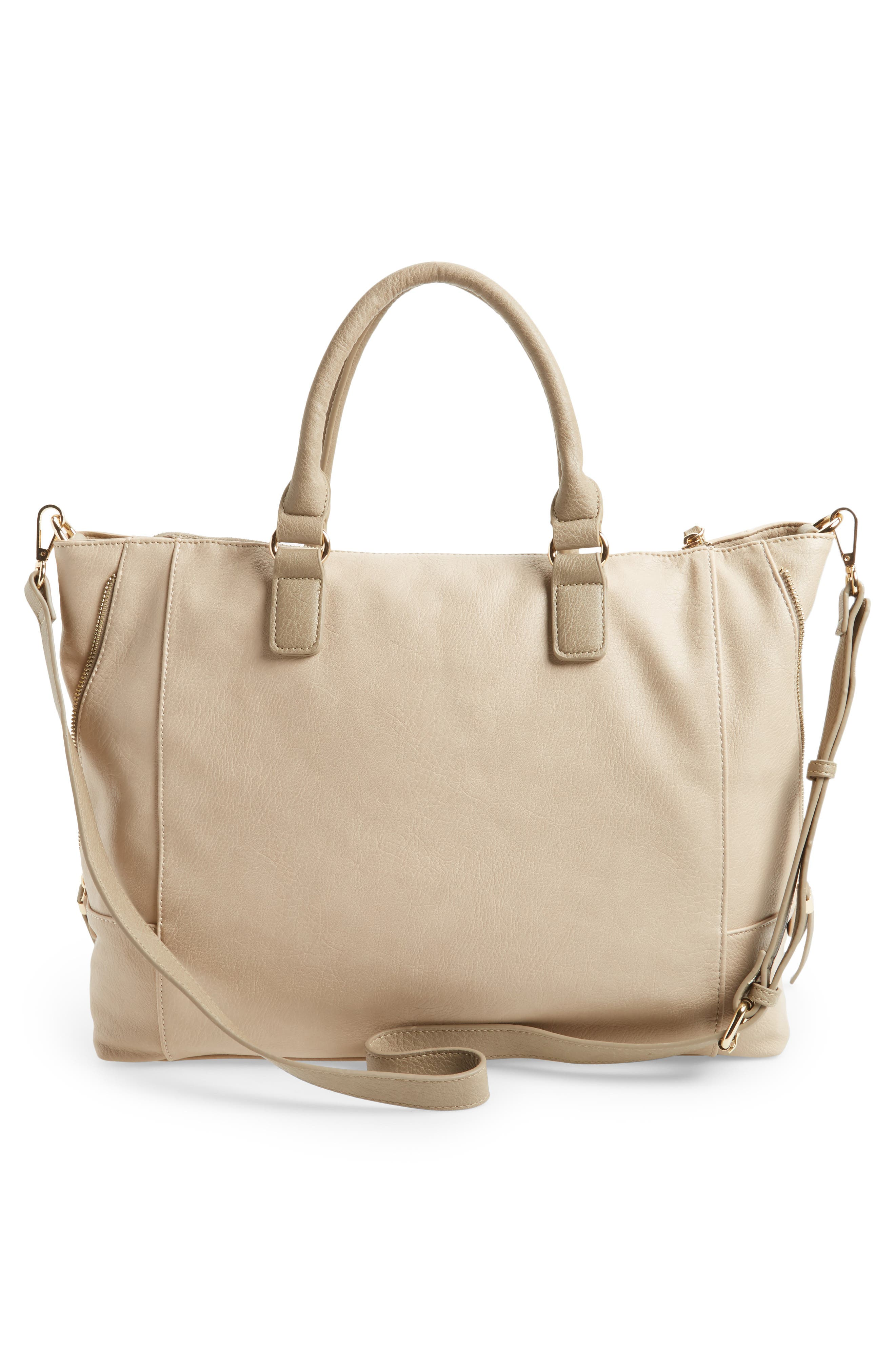 'Susan' Winged Faux Leather Tote,                             Alternate thumbnail 15, color,