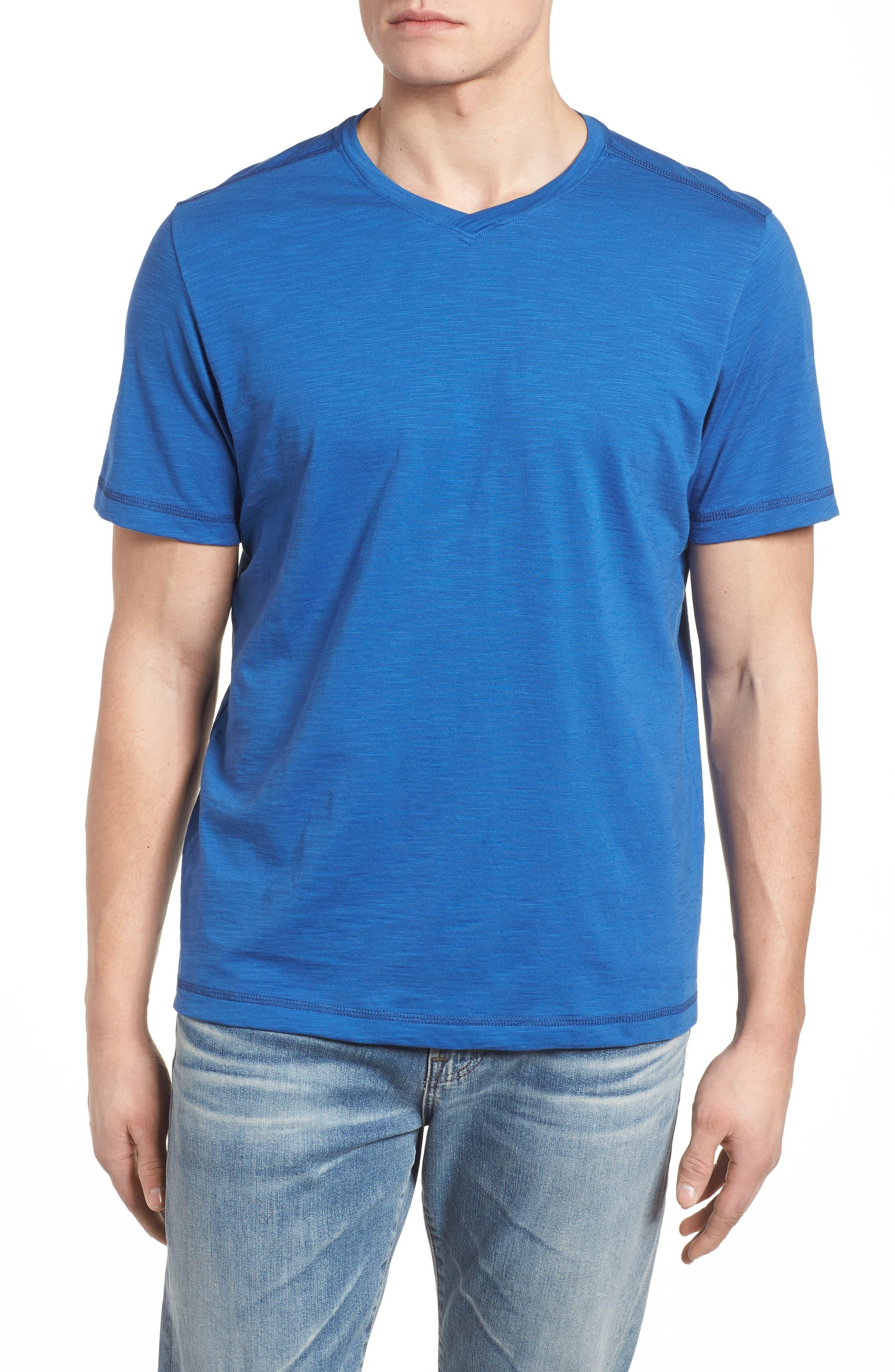 Portside Palms V-Neck T-Shirt,                             Main thumbnail 7, color,