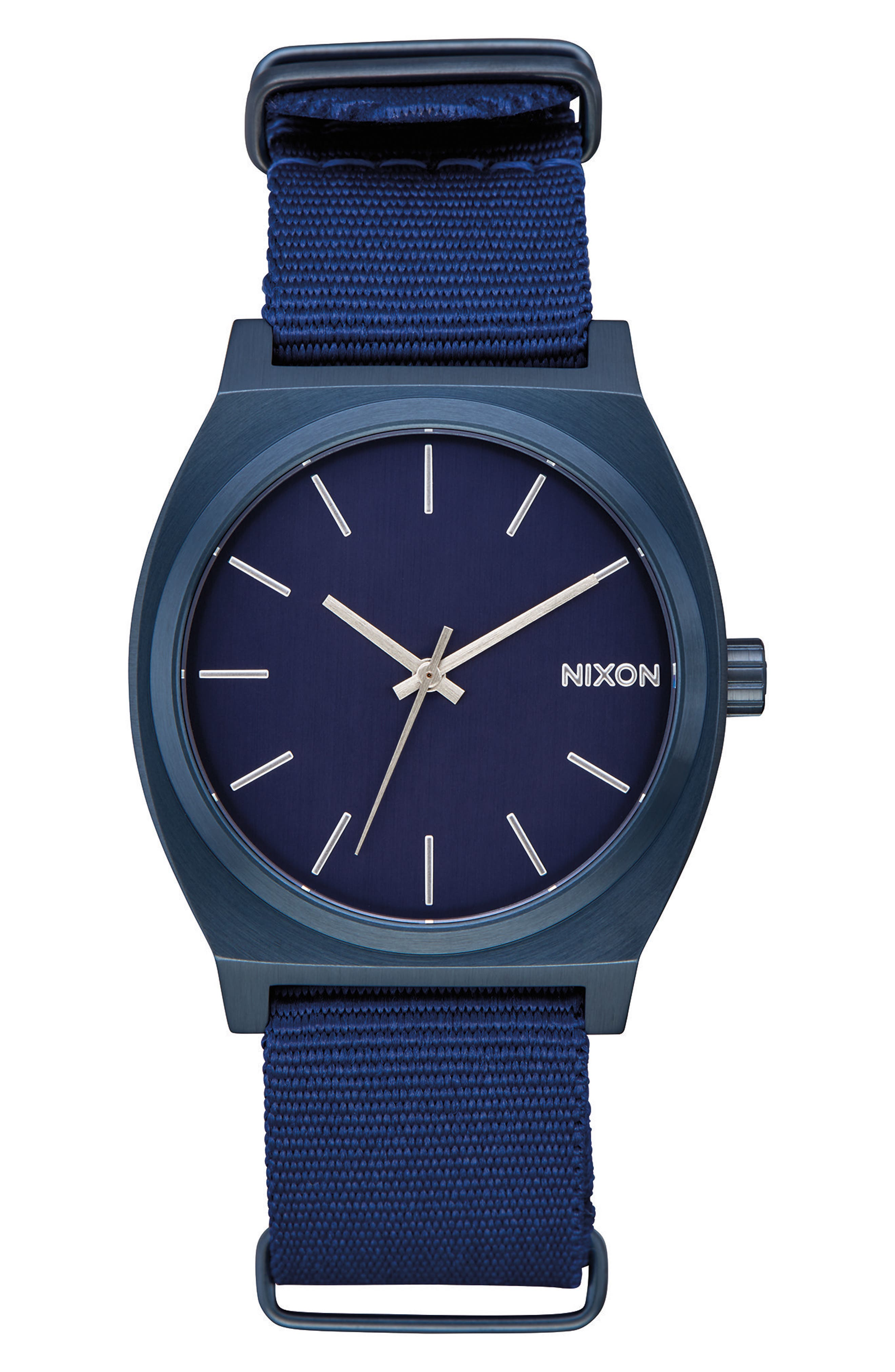 The Time Teller NATO Strap Watch, 37mm,                             Main thumbnail 1, color,                             BLUE