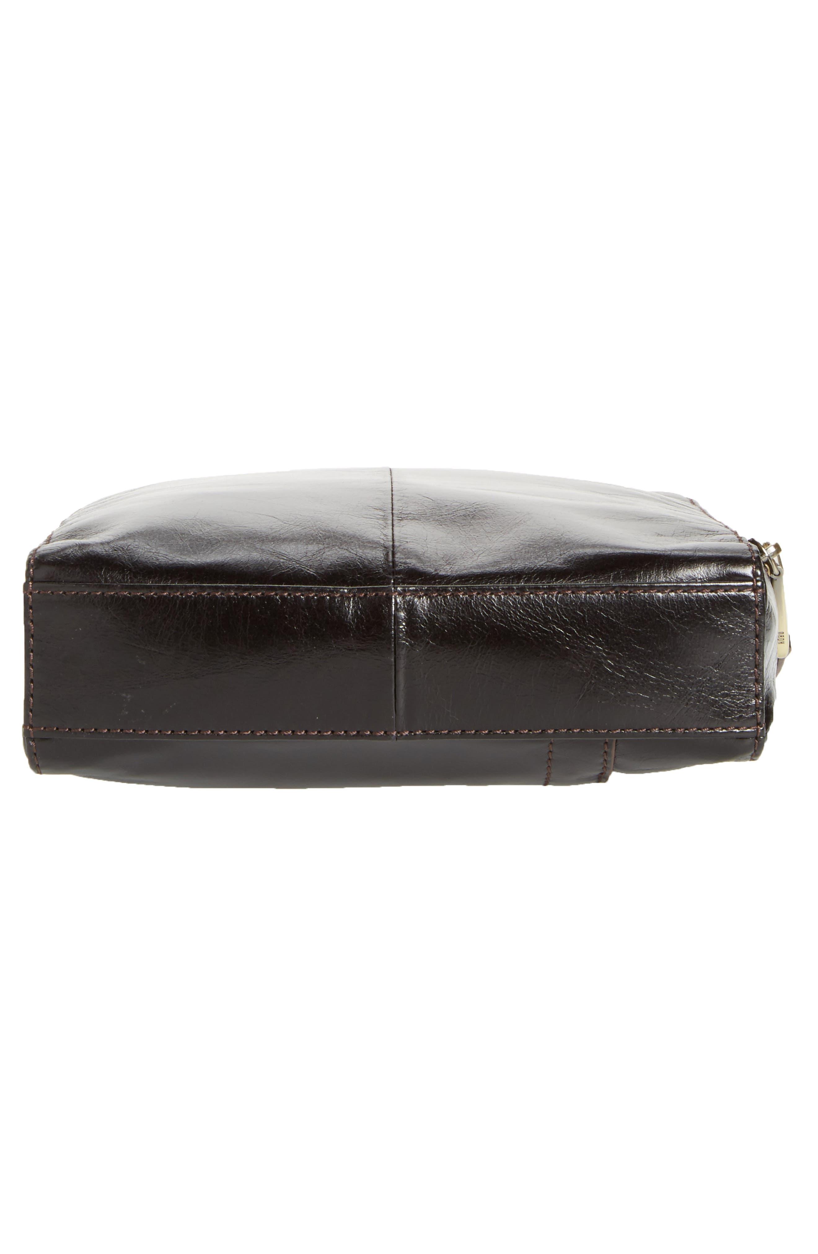 Lyric Leather Crossbody Bag,                             Alternate thumbnail 6, color,                             001