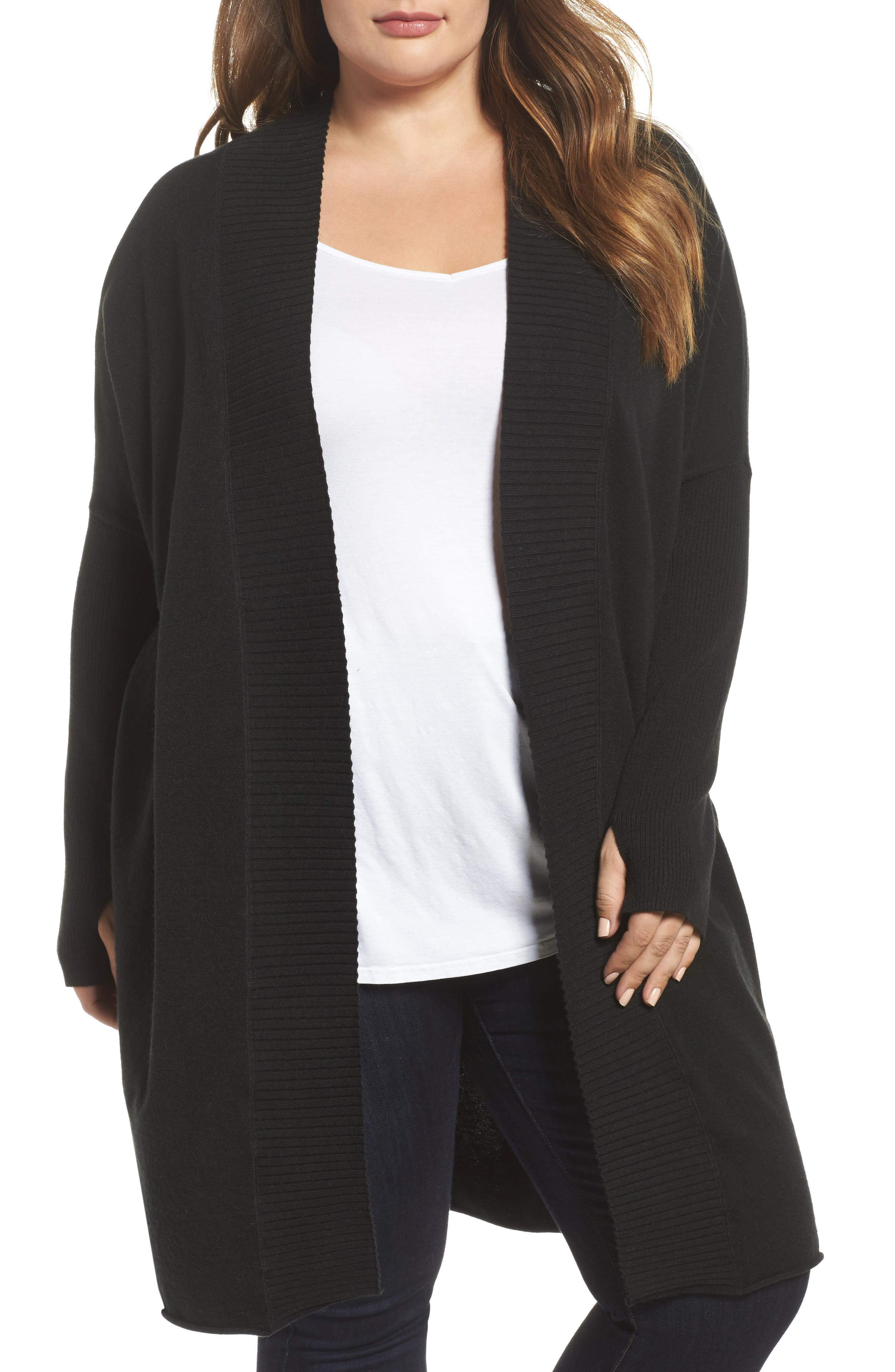 Off-Duty Long Open Front Cardigan,                         Main,                         color,