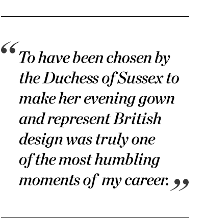 """""""To have been chosen by the Duchess of Sussex to make her evening gown and represent British design was truly one of the most humbling moments of my career."""" - Stella McCartney"""