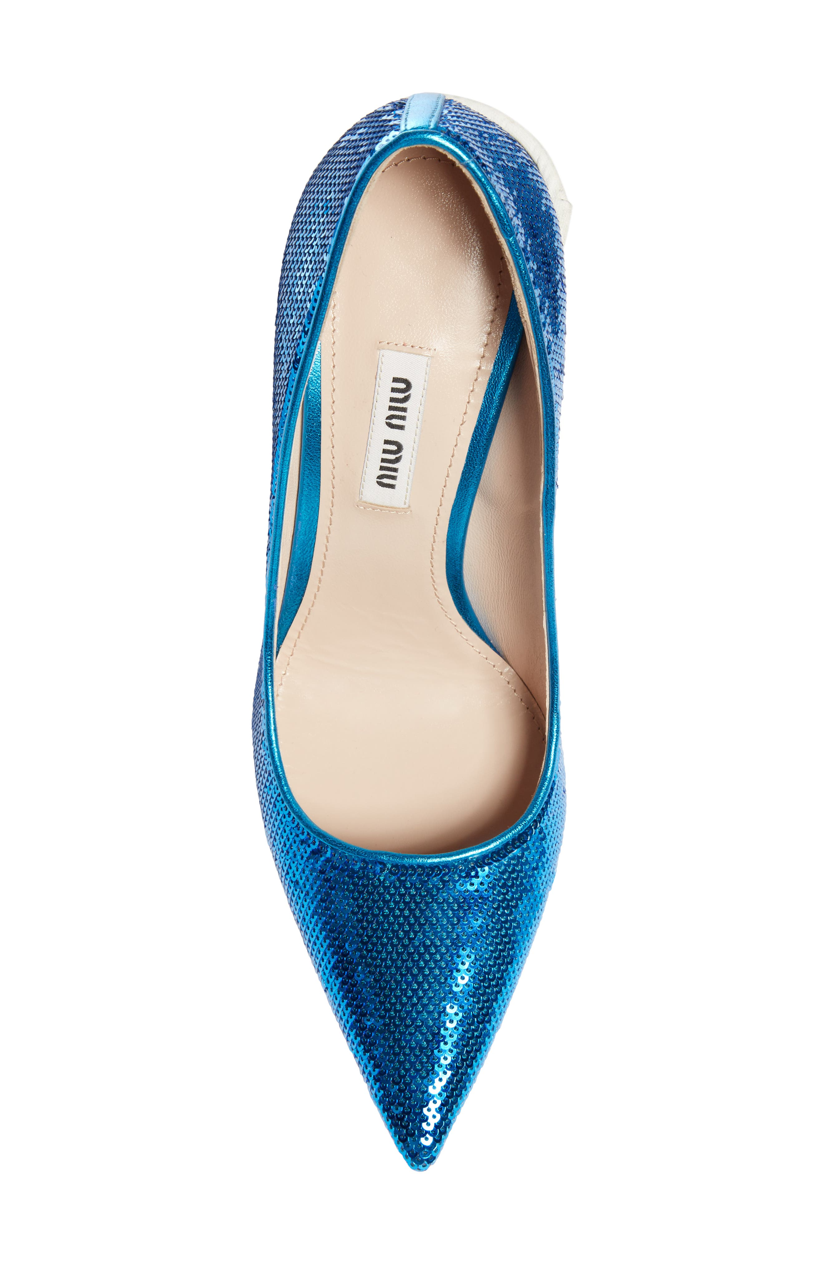 Sequin Pin Heel Pump,                             Alternate thumbnail 5, color,                             MAREA BLUE