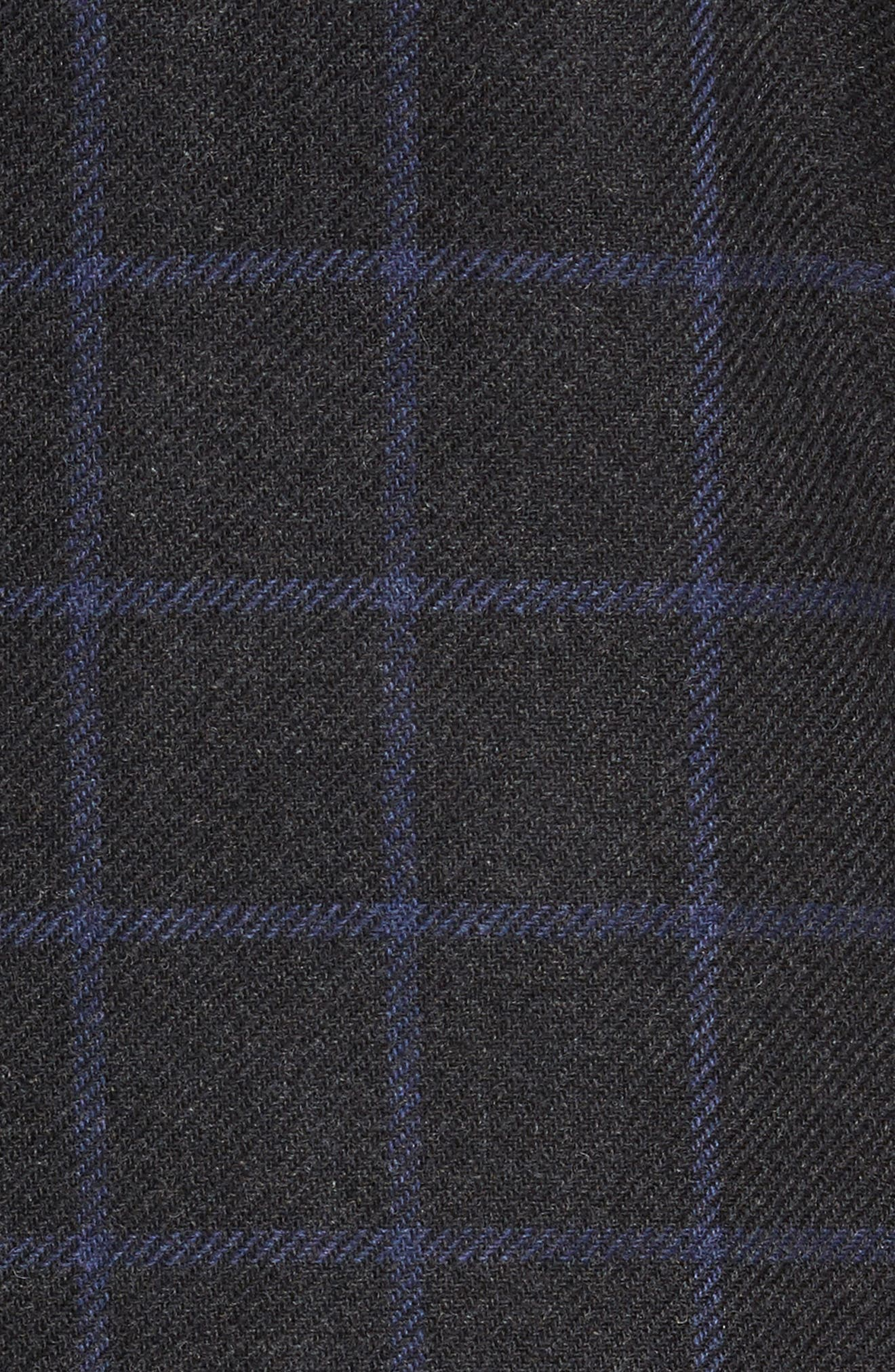 Trim Fit Windowpane Wool Blend Sport Coat,                             Alternate thumbnail 6, color,                             024