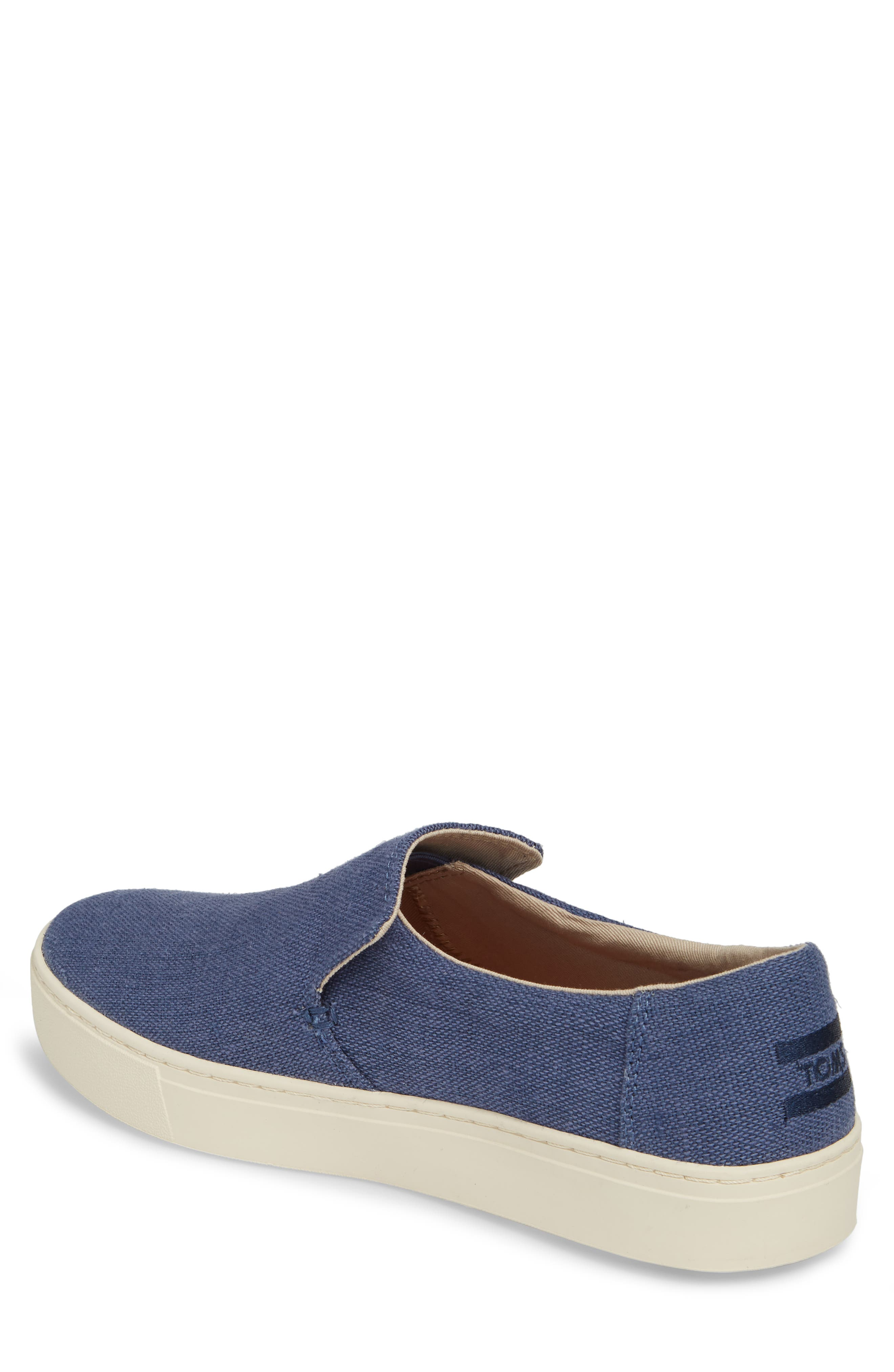 TOMS,                             Loma Slip-On Sneaker,                             Alternate thumbnail 2, color,                             CADET BLUE HERITAGE CANVAS