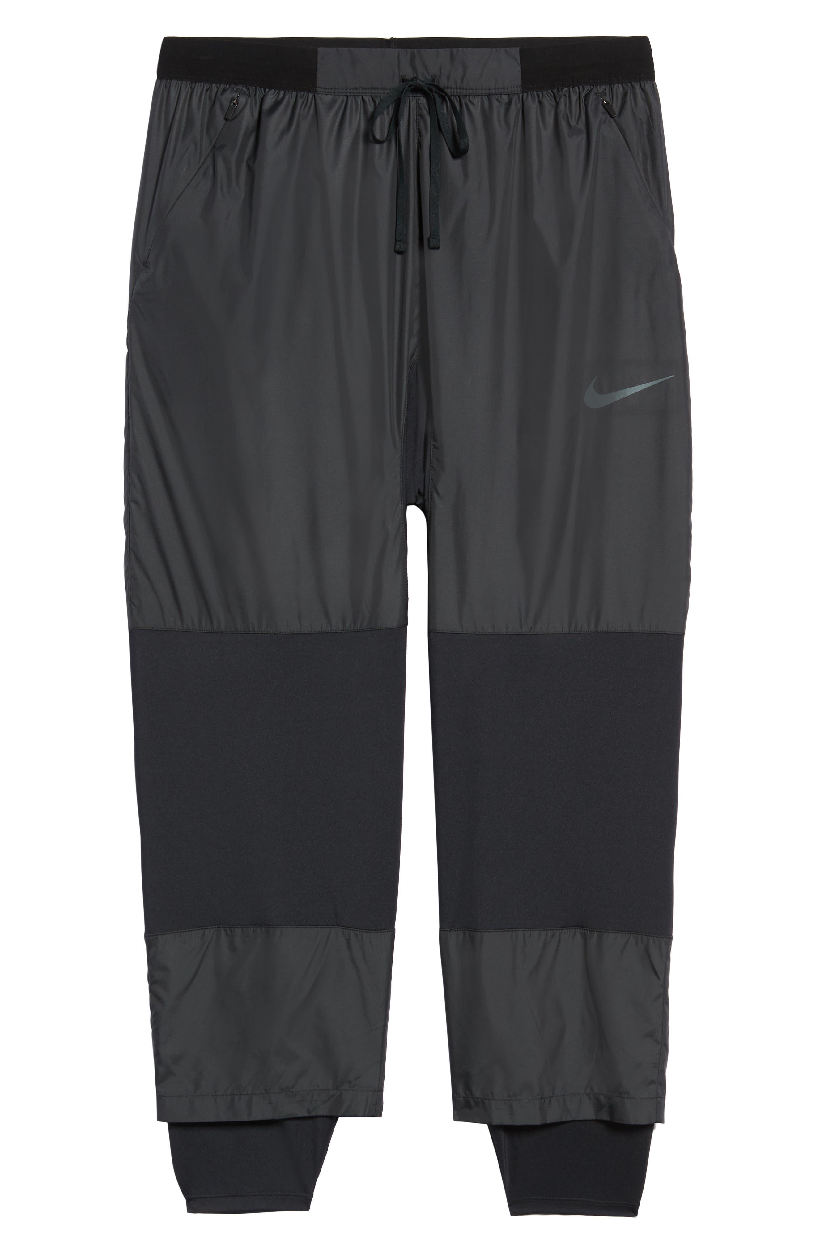 Dry Division Tech Running Pants,                             Alternate thumbnail 6, color,                             BLACK/ BLACK