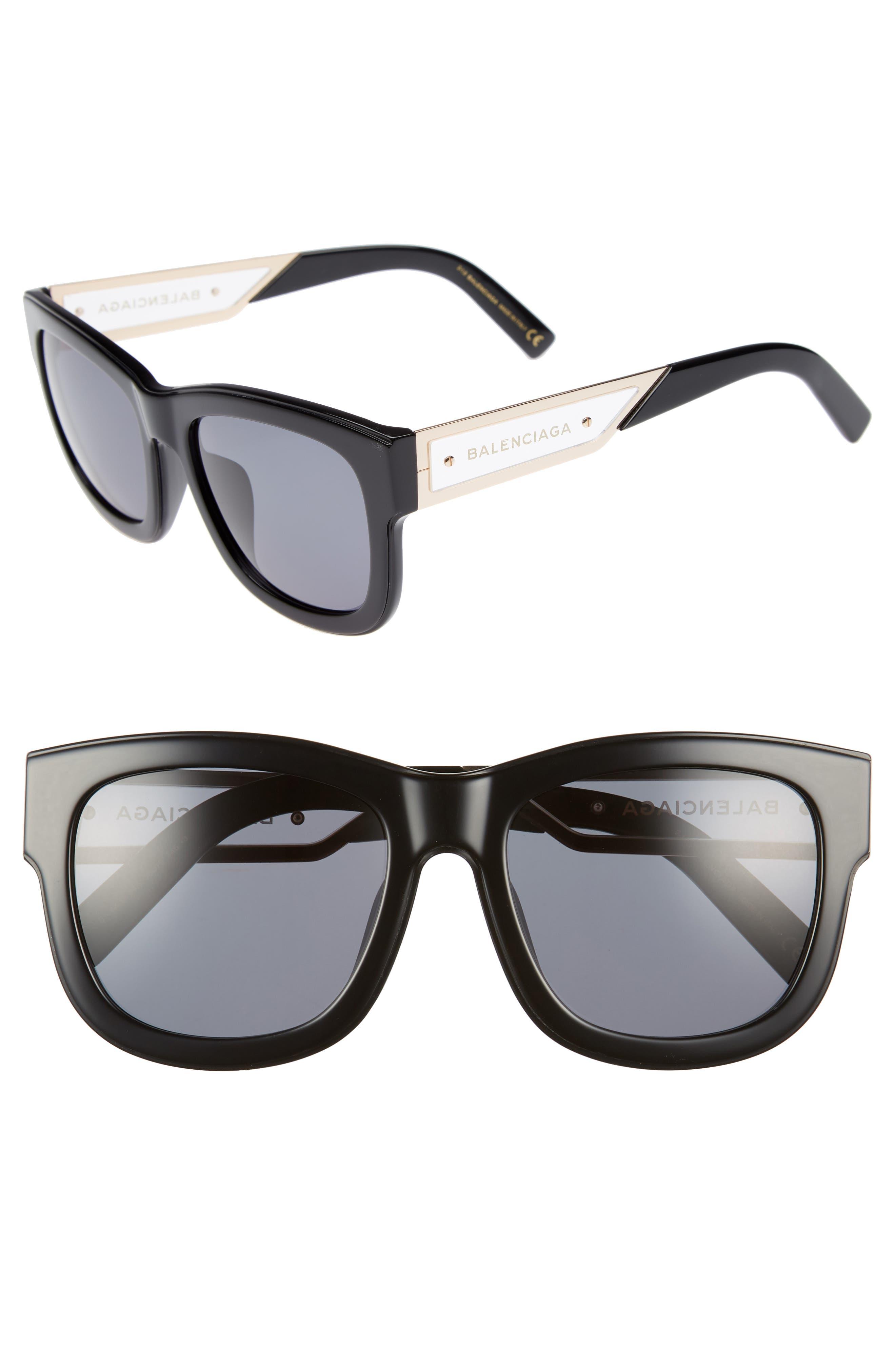 BALENCIAGA 56mm Cat Eye Sunglasses, Main, color, 018