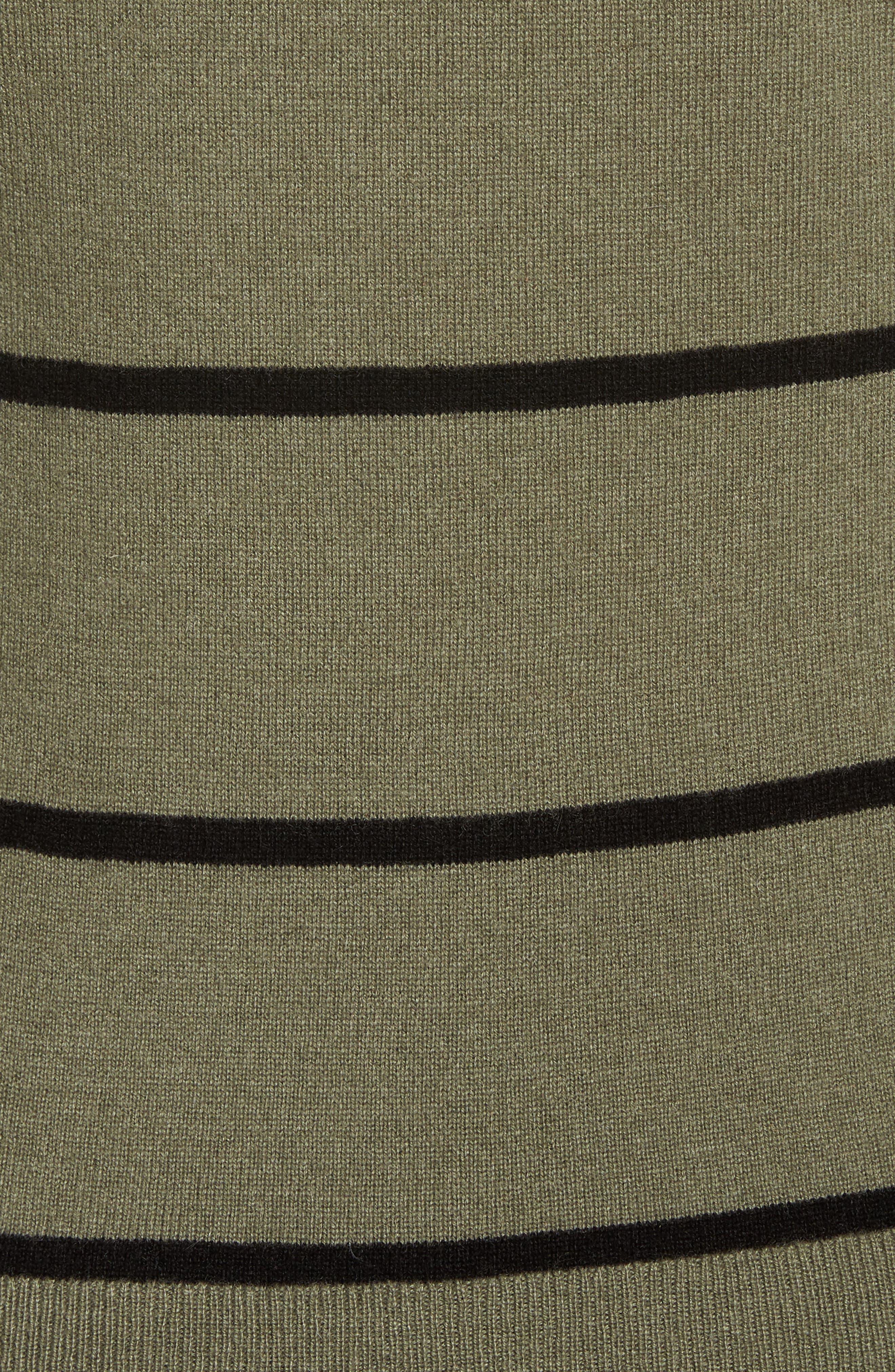 Stripe Cashmere Sweater,                             Alternate thumbnail 5, color,                             315