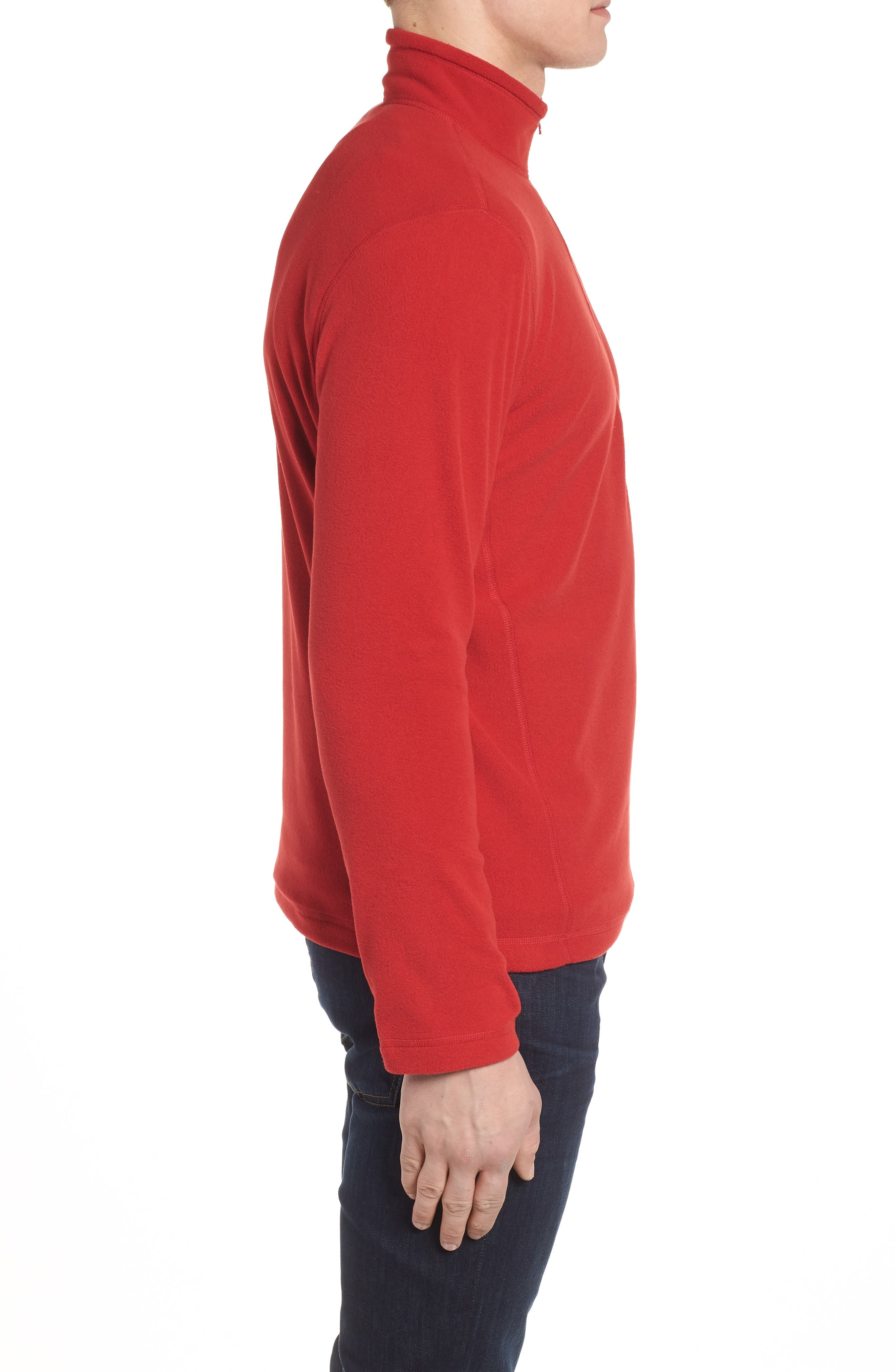 'TKA 100 Glacier' Quarter Zip Fleece Pullover,                             Alternate thumbnail 3, color,                             RAGE RED/ RAGE RED