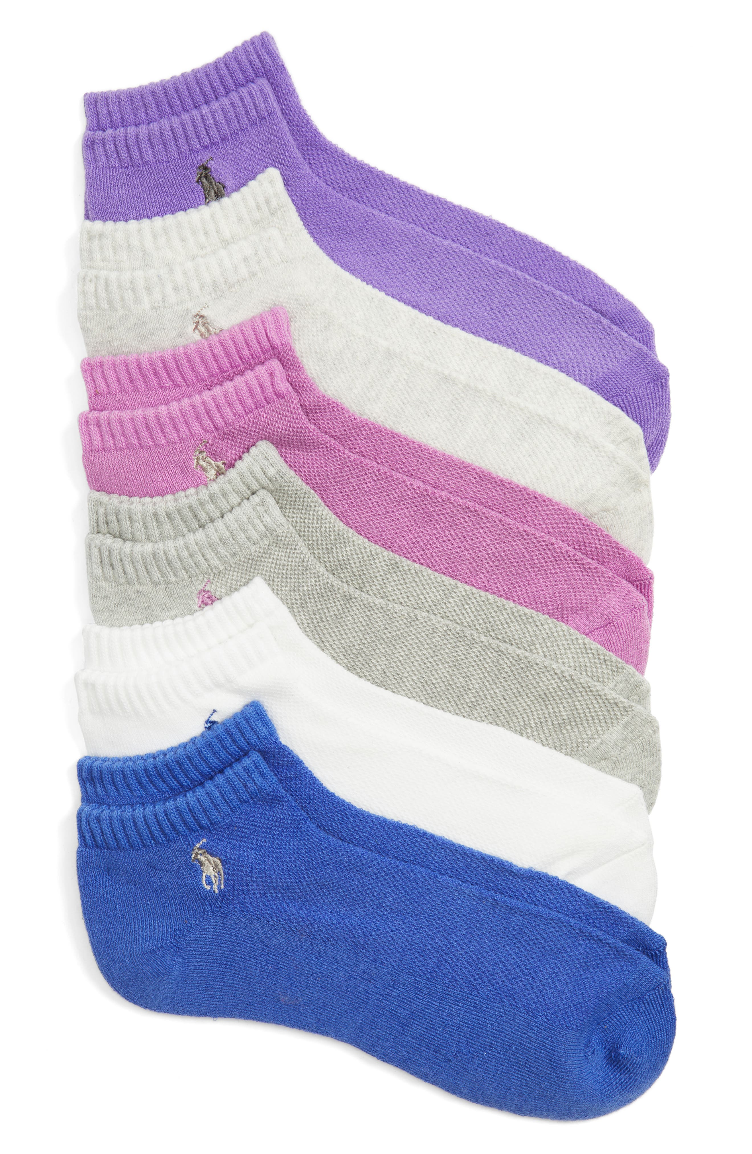 Sport 6-Pack Low-Cut Socks,                             Main thumbnail 1, color,                             651