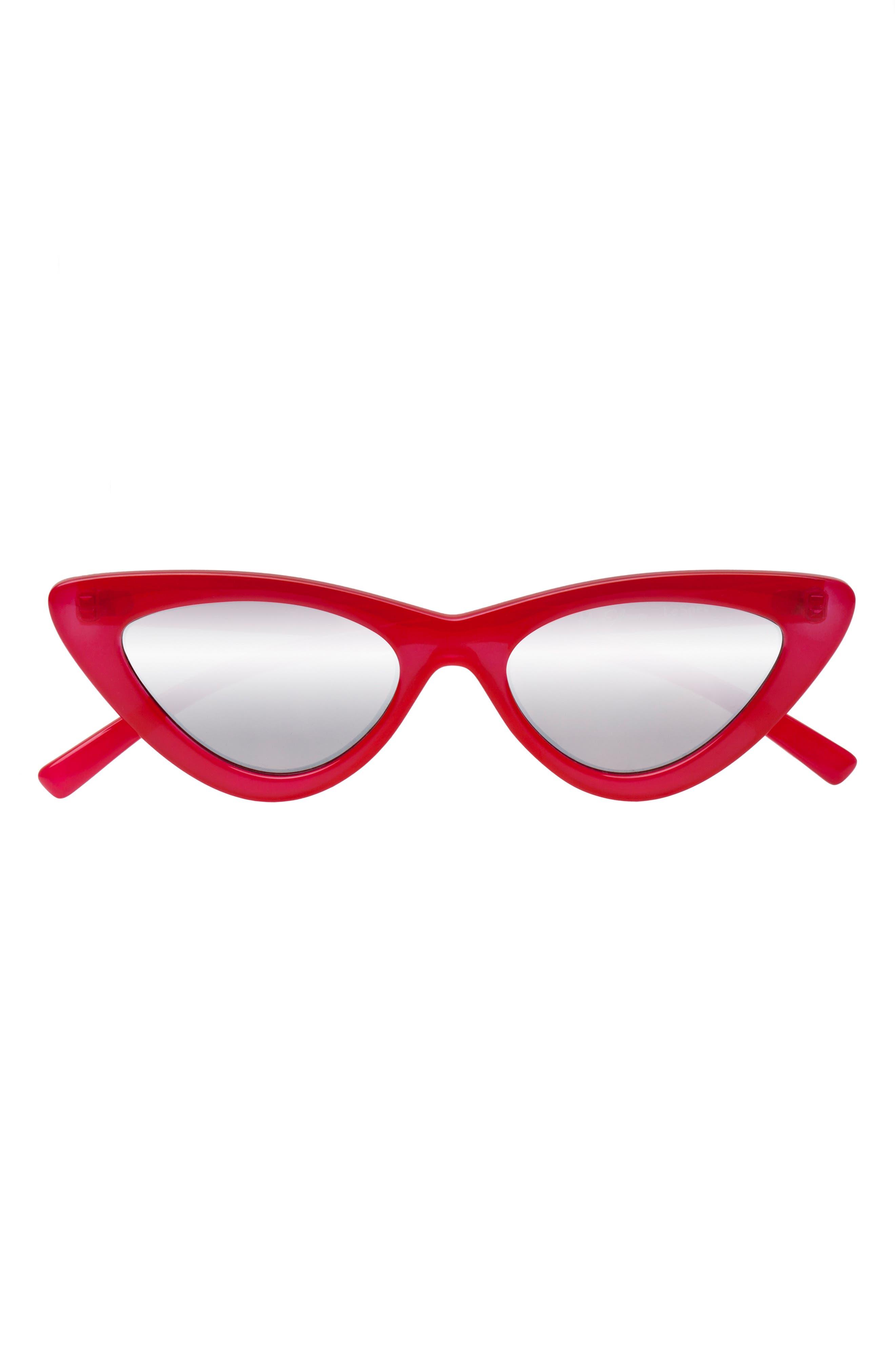 Adam Selman X Le Specs Luxe Lolita 4m Cat Eye Sunglasses - Opaque Red