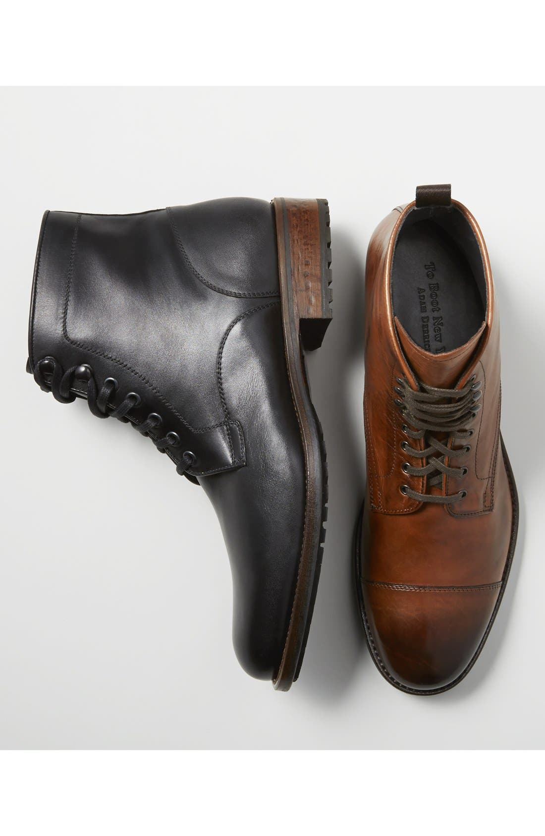 TO BOOT NEW YORK,                             'Stallworth' Cap Toe Boot,                             Alternate thumbnail 5, color,                             001