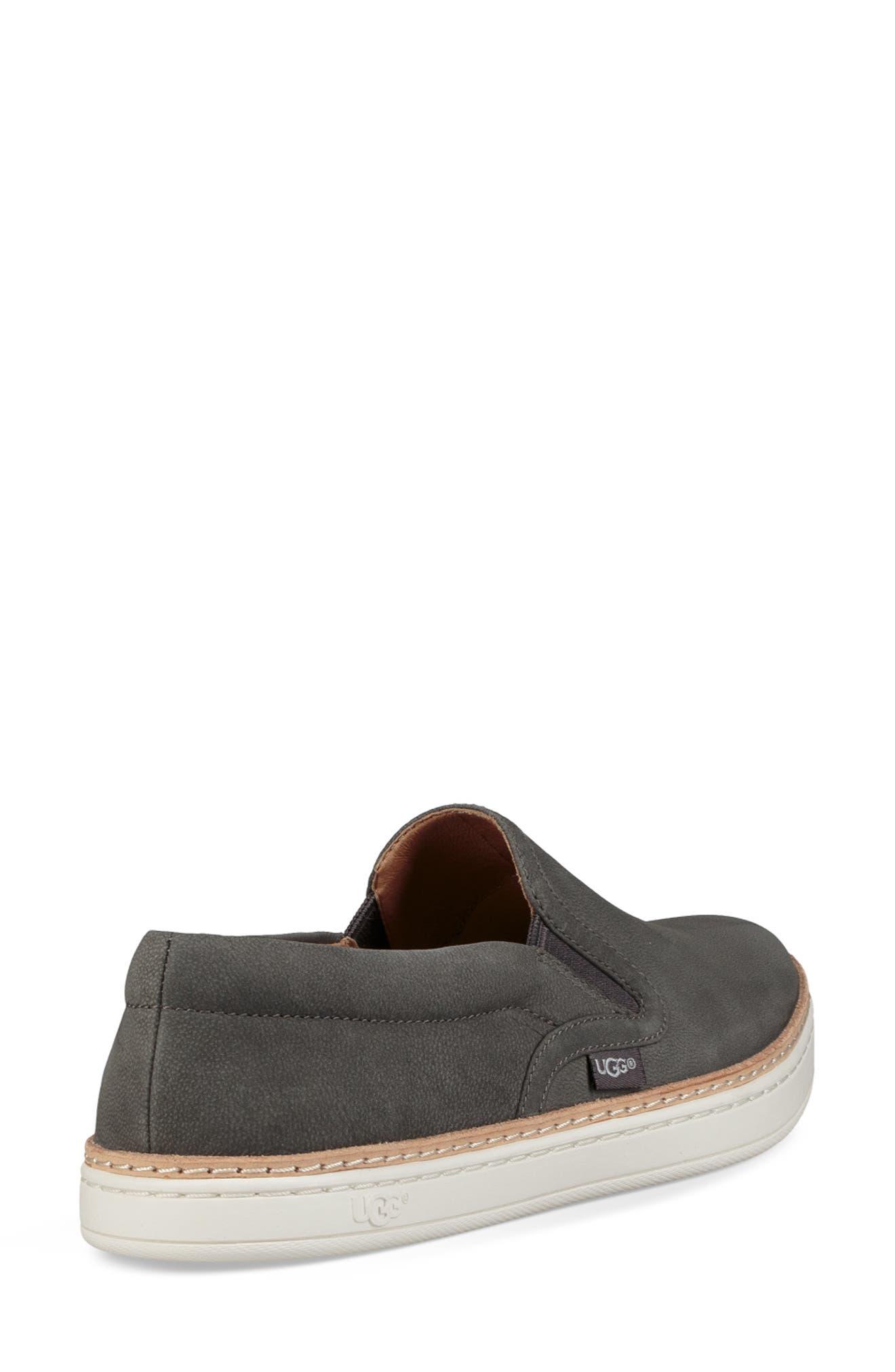Soleda Slip-On Sneaker,                             Alternate thumbnail 2, color,                             CHARCOAL LEATHER