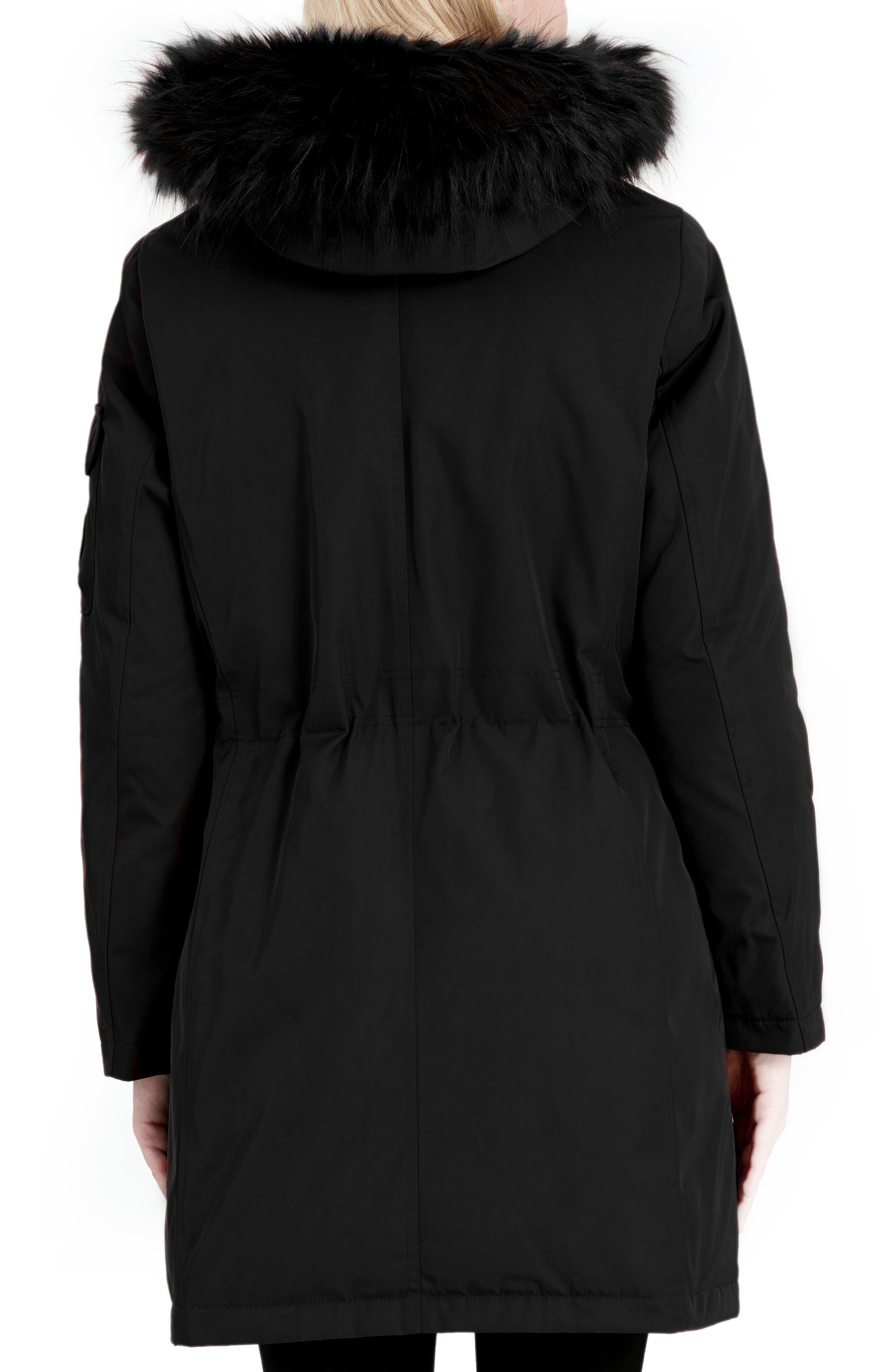 Expedition Hooded Down Parka with Faux Fur Trim,                             Alternate thumbnail 2, color,                             001