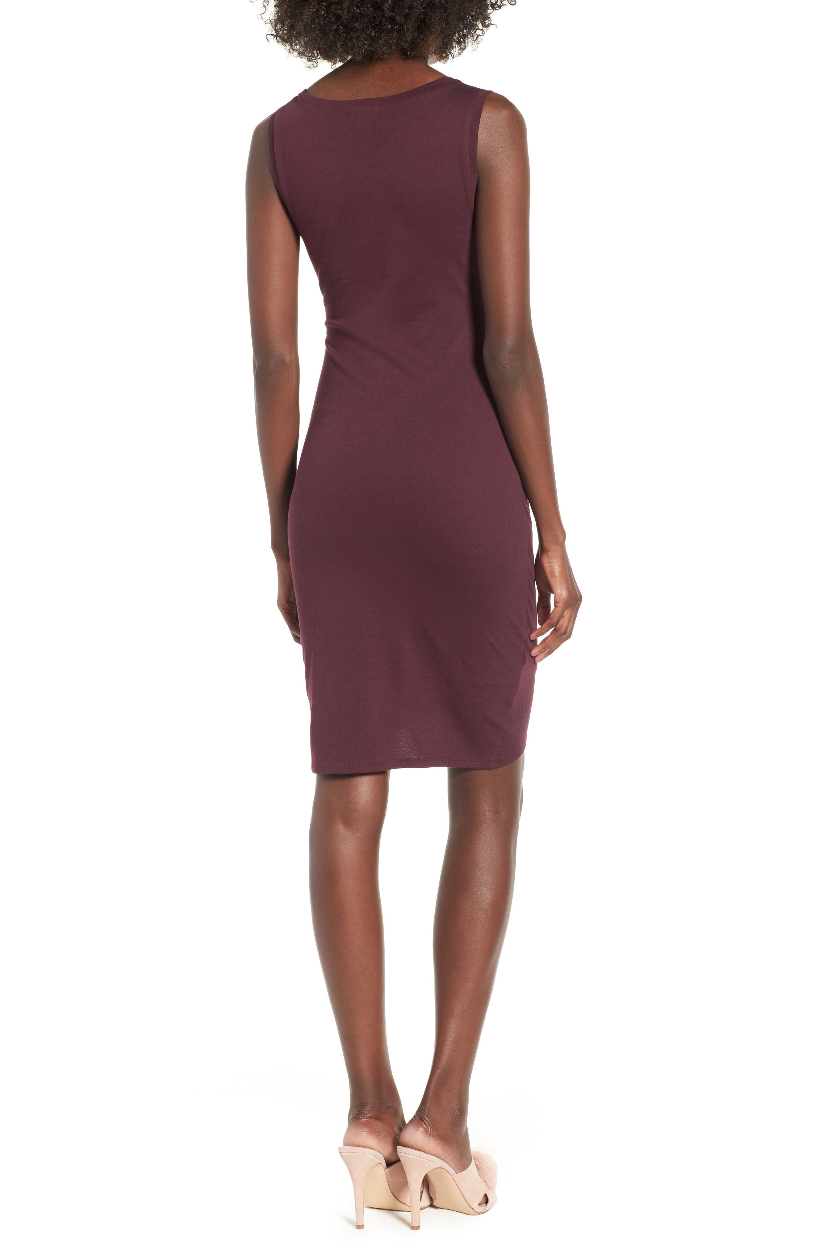 Ruched Body-Con Tank Dress,                             Alternate thumbnail 104, color,