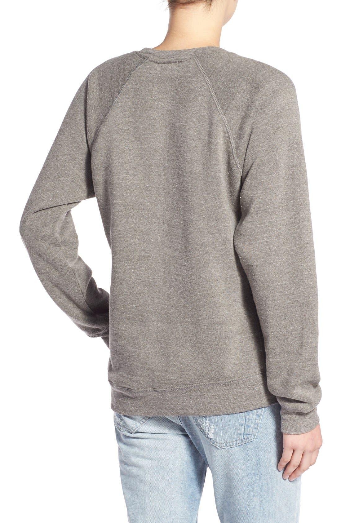 'Good Mood' Graphic Sweatshirt,                             Alternate thumbnail 4, color,                             050
