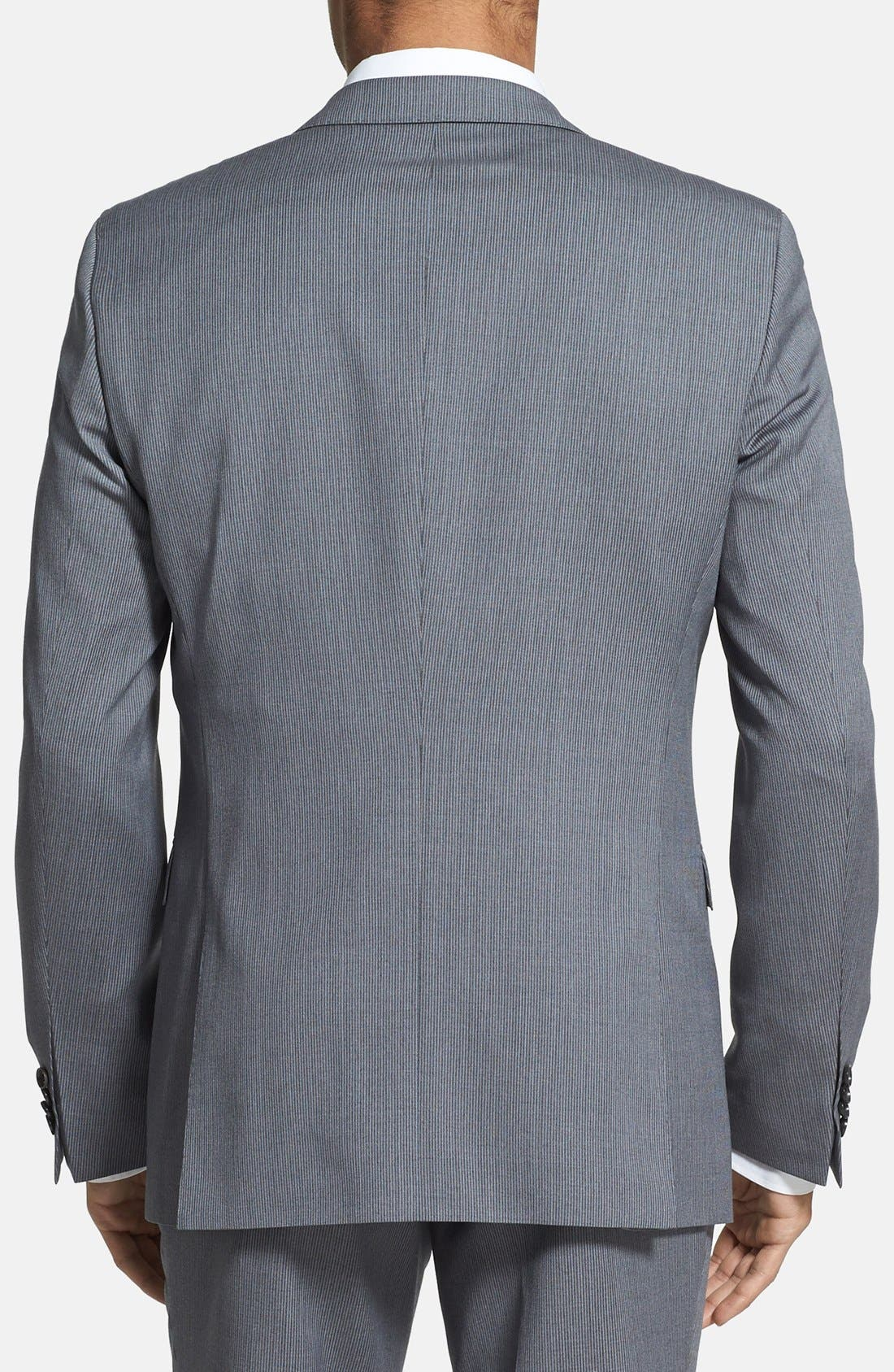 ZZDNUHUGO BOSS,                             BOSS HUGO BOSS 'Ryan/Win' Extra Trim Fit Stripe Suit,                             Alternate thumbnail 3, color,                             030
