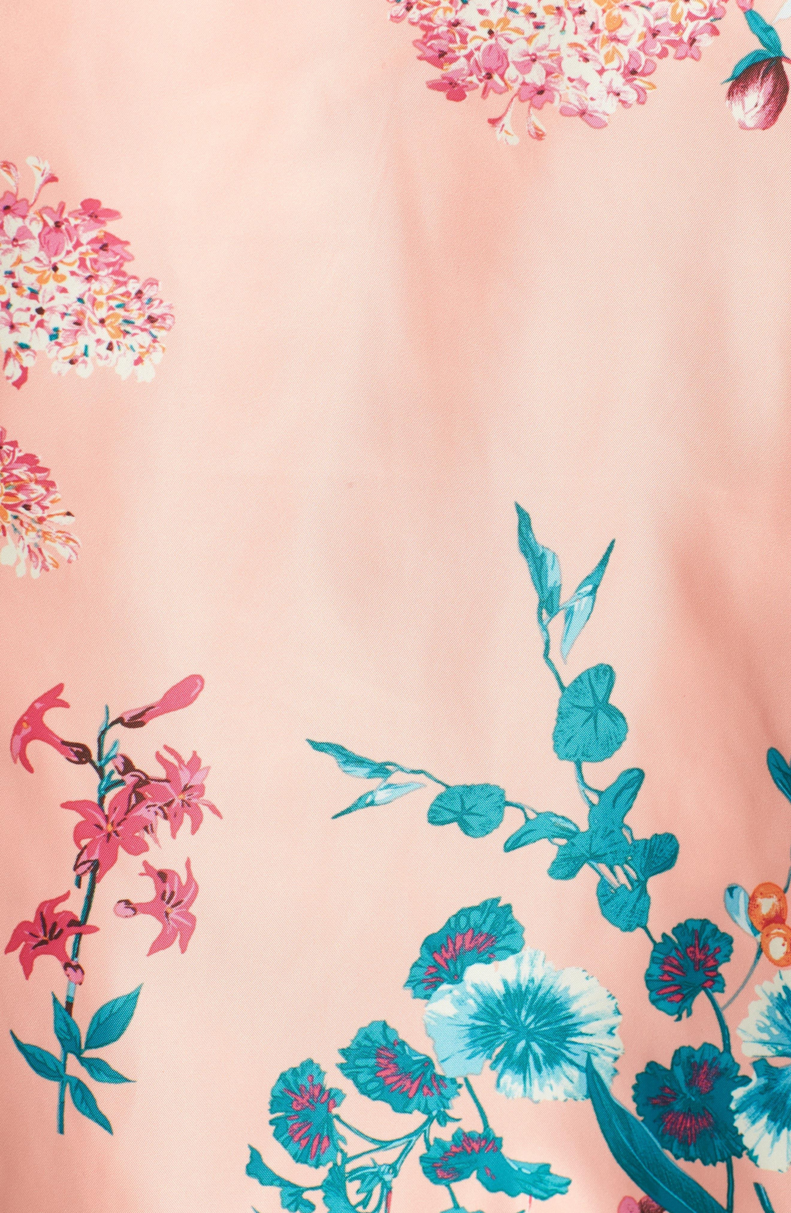 Reversible Floral Bomber Jacket,                             Alternate thumbnail 8, color,