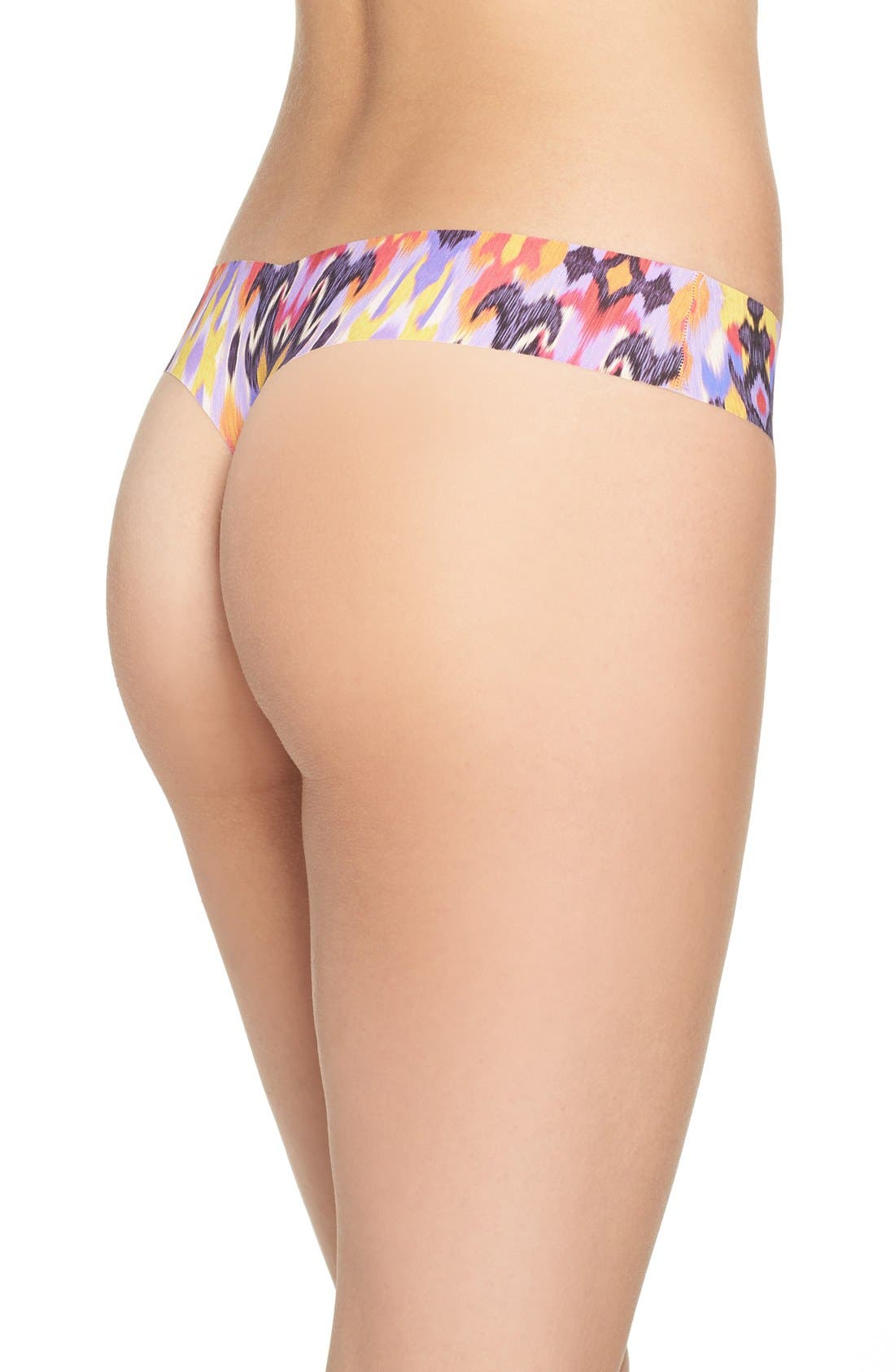 Print Microfiber Thong,                             Alternate thumbnail 172, color,