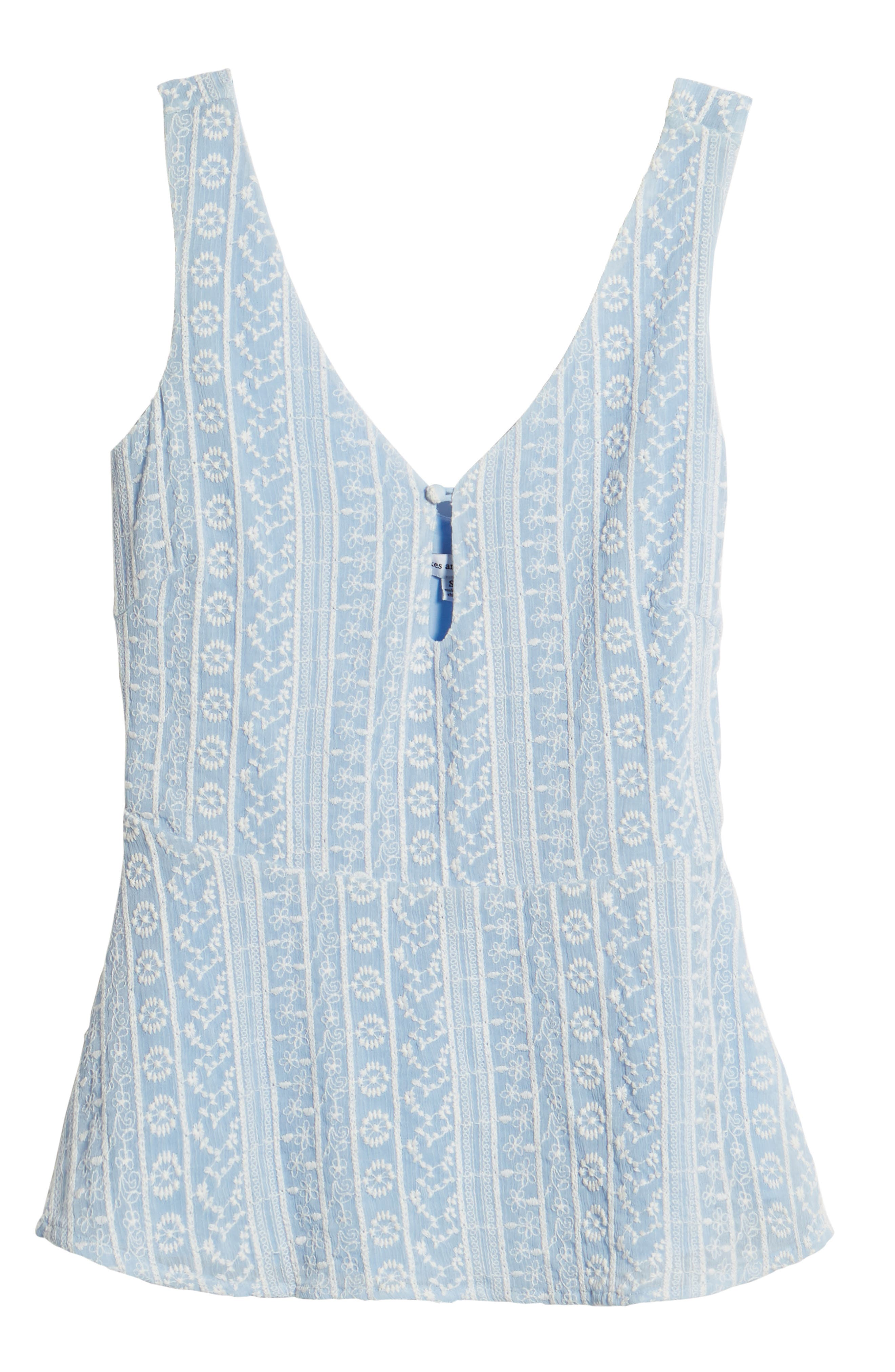 Brian Embroidered Peplum Tank,                             Alternate thumbnail 7, color,                             450