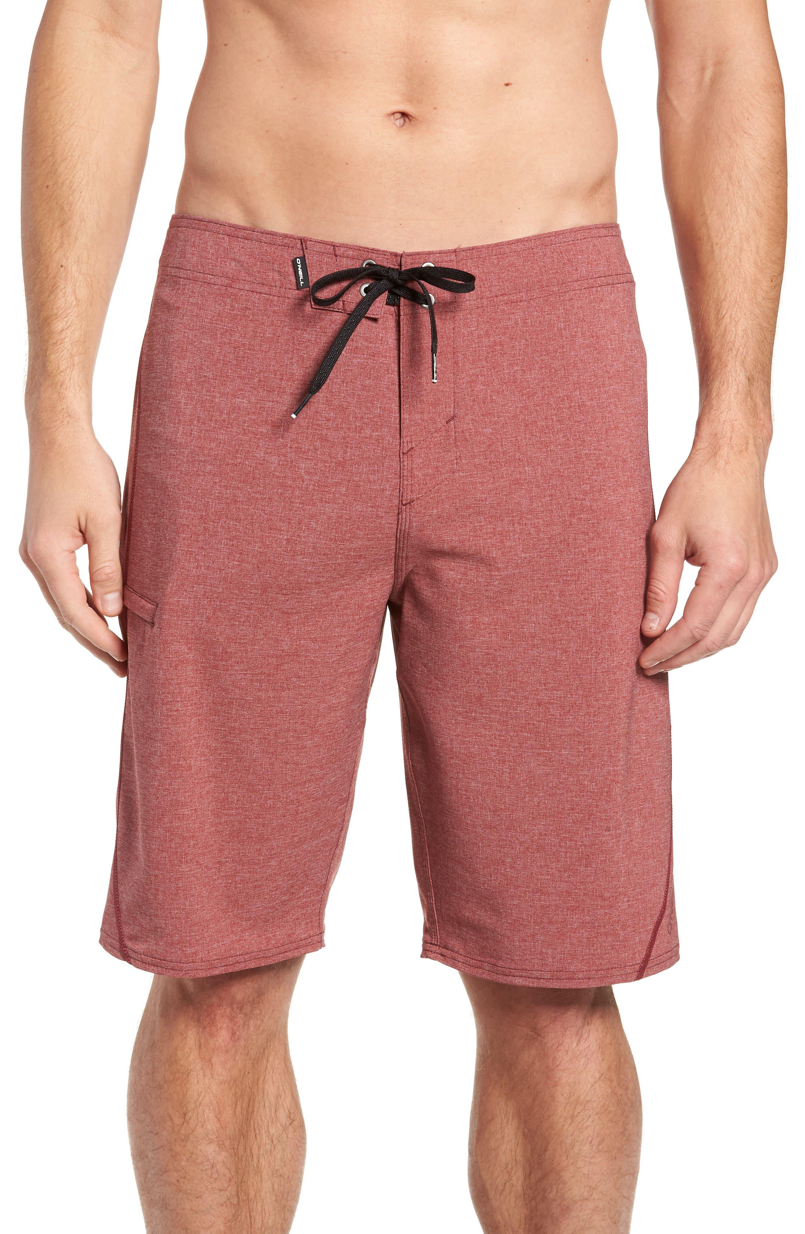 Hyperfreak S-Seam Board Shorts,                         Main,                         color, CRIMSON
