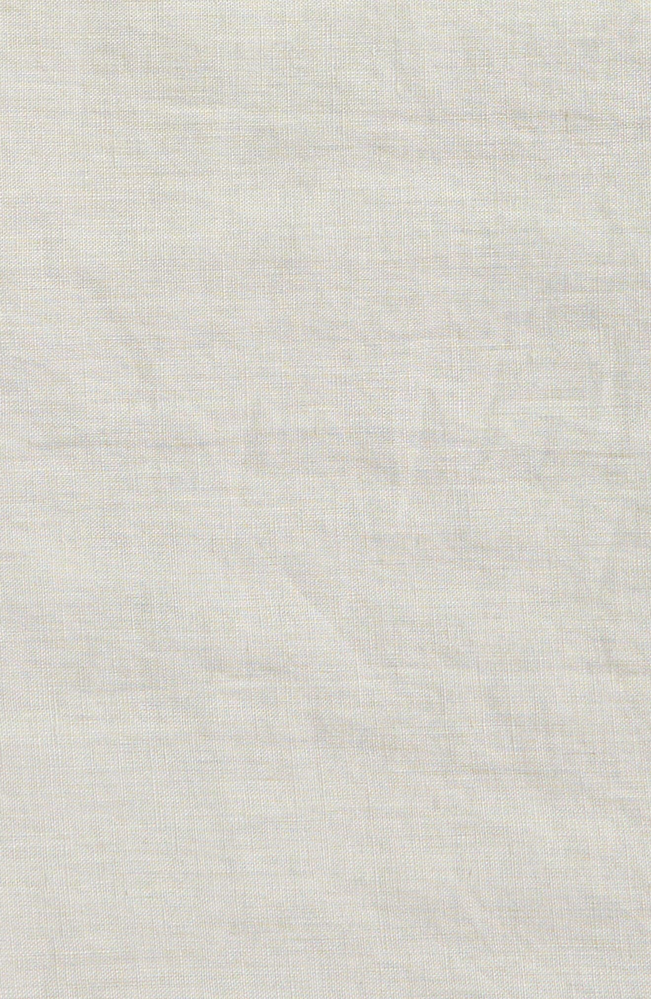Round Linen Tablecloth,                             Alternate thumbnail 3, color,                             020