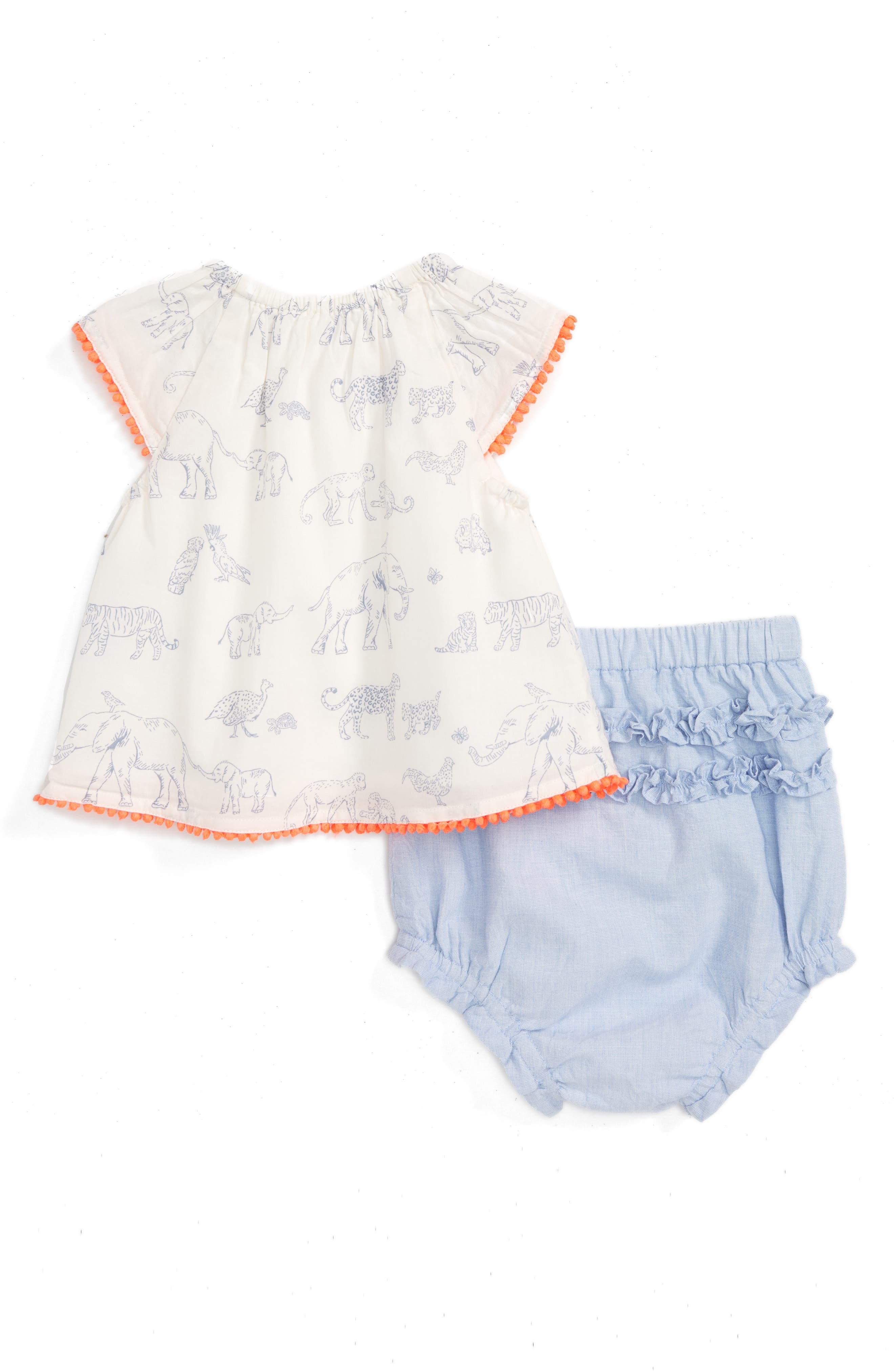 Summer Animals Top & Ruffle Shorts,                         Main,                         color, 909