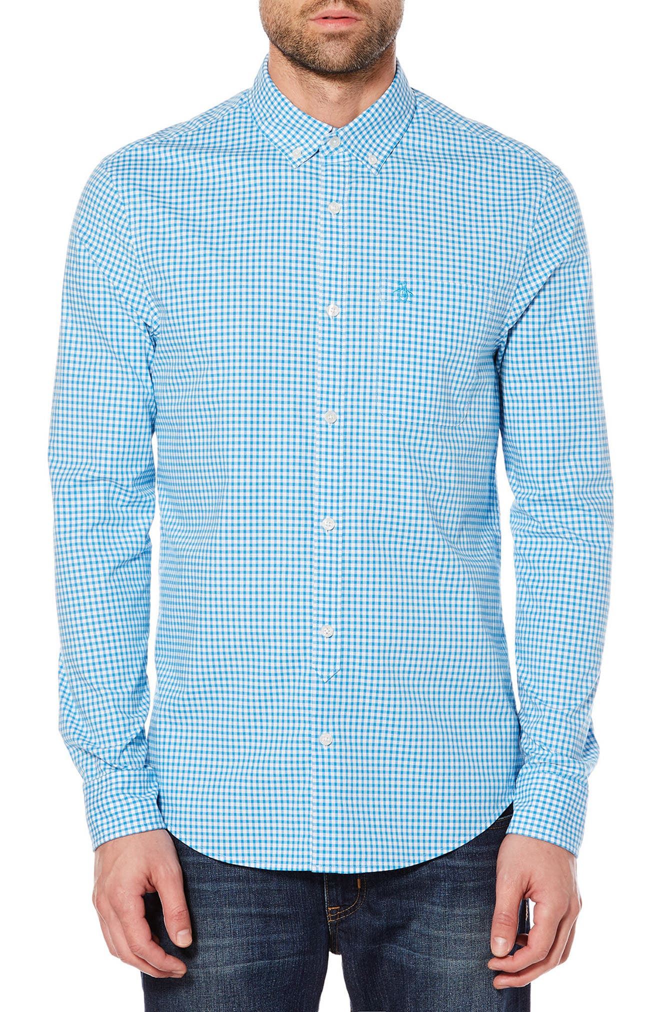 Gingham Shirt,                         Main,                         color, 418