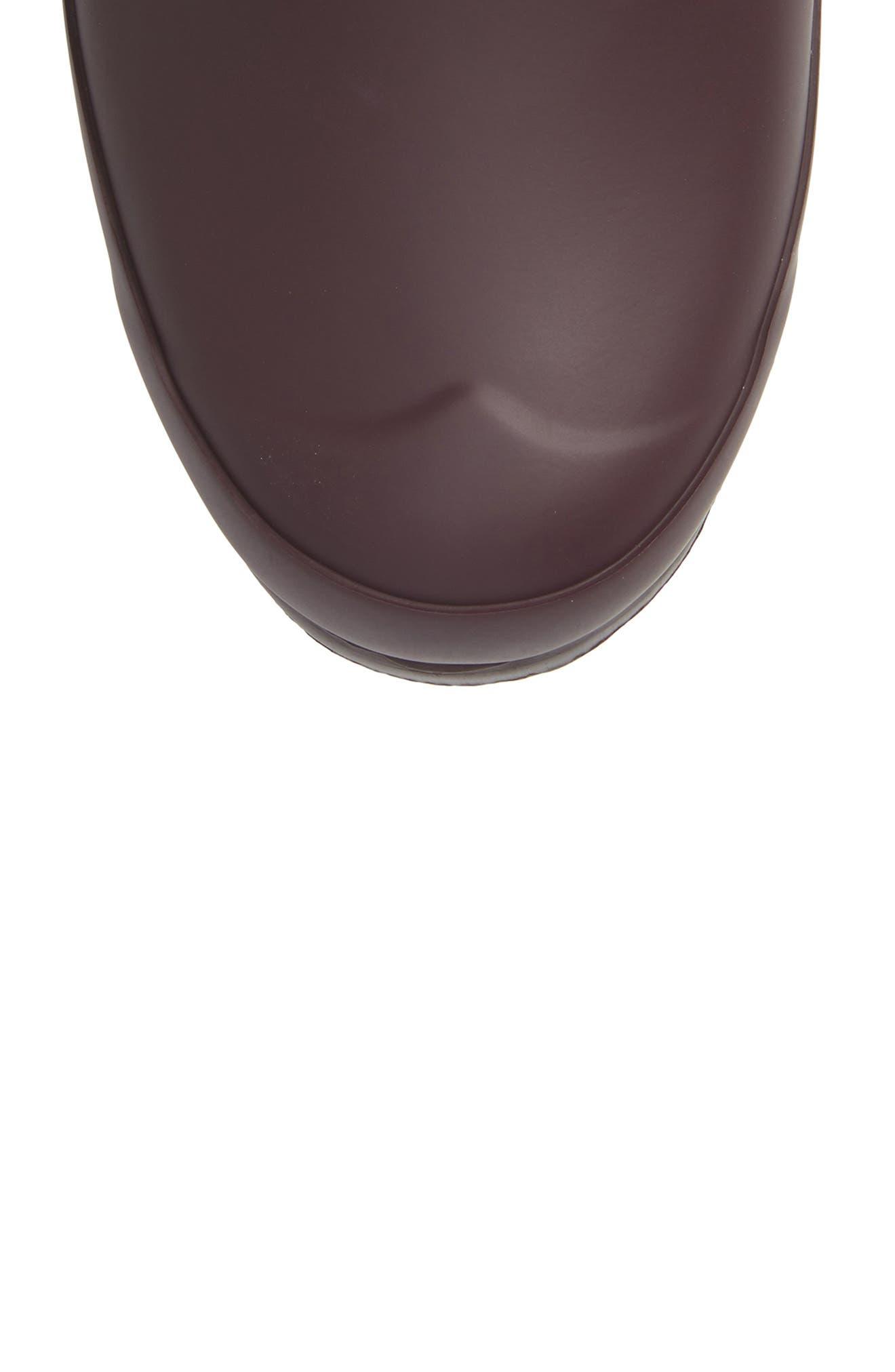 Original Tall Adjustable Back Waterproof Rain Boot,                             Alternate thumbnail 5, color,                             BLACK GRAPE