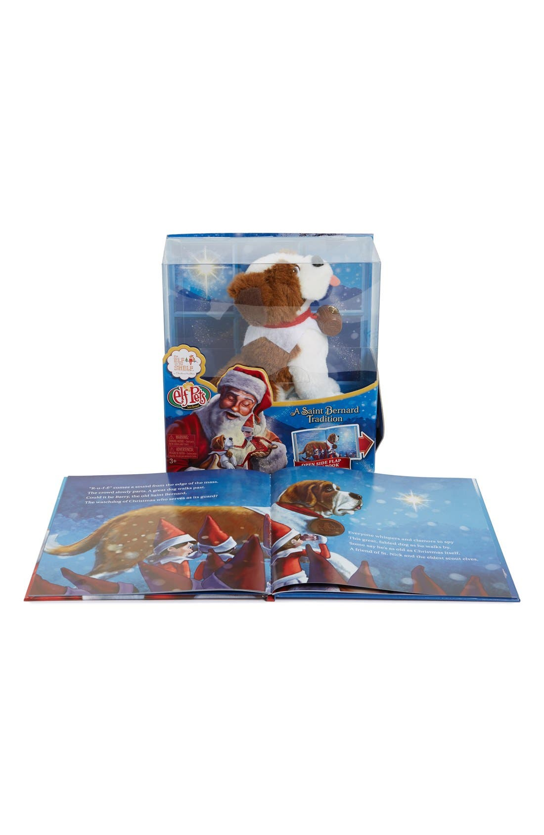 Elf Pets<sup>®</sup>: A Saint Bernard Tradition Book & Stuffed Animal,                             Alternate thumbnail 3, color,                             MULTI