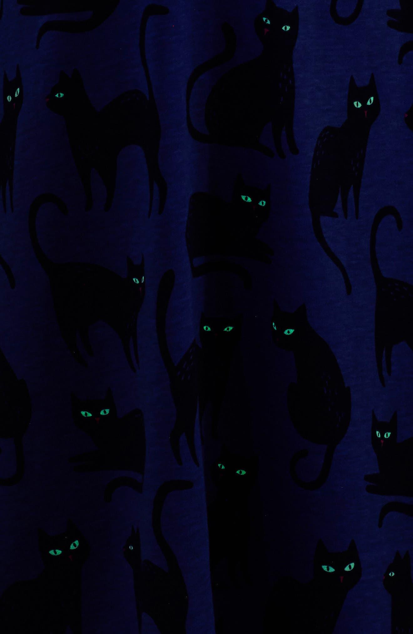 Cat Glow in the Dark Dress,                             Alternate thumbnail 2, color,                             404
