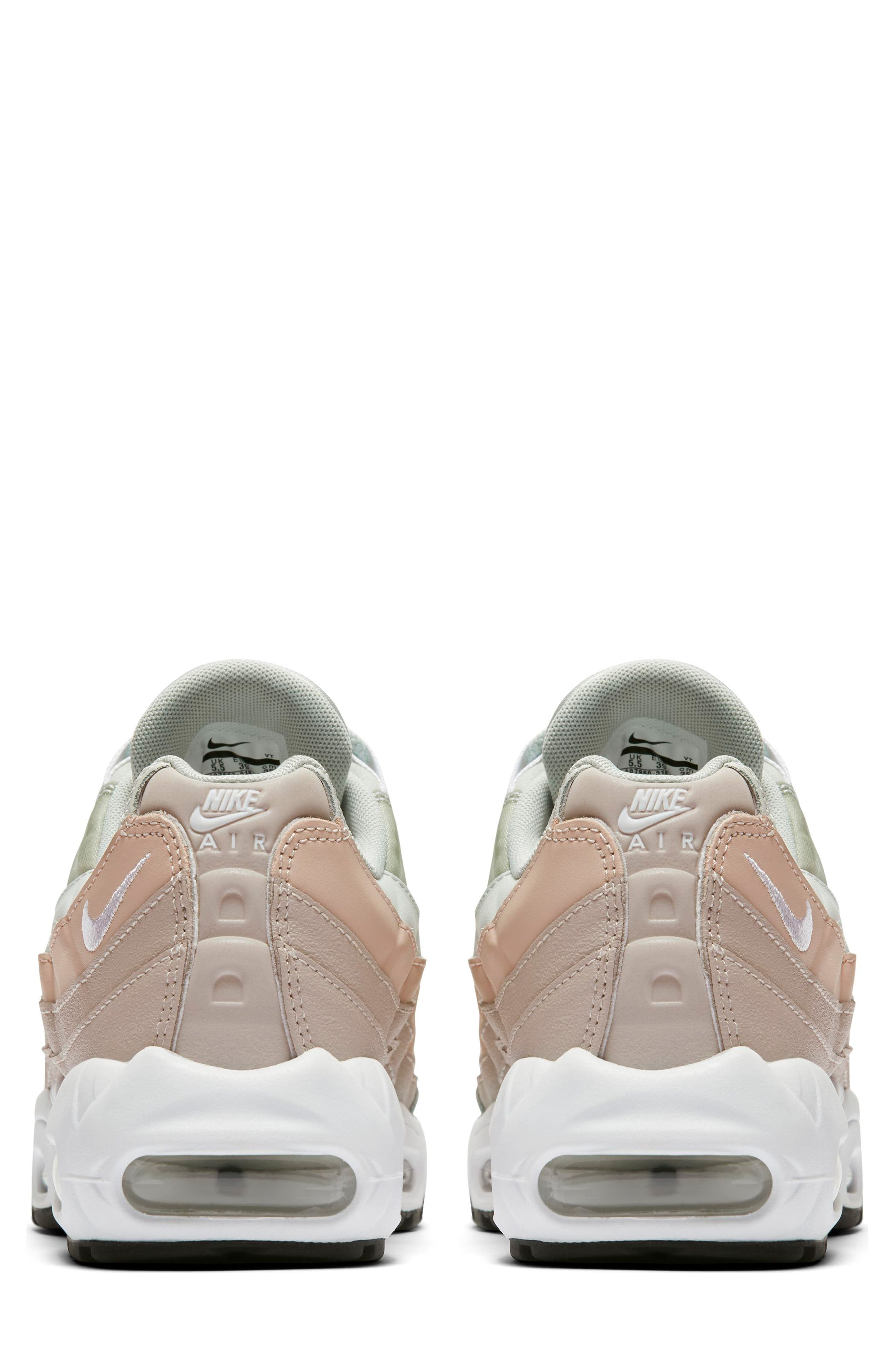 NIKE,                             Air Max 95 Running Shoe,                             Alternate thumbnail 2, color,                             SILVER/ WHITE/ MOON PARTICLE